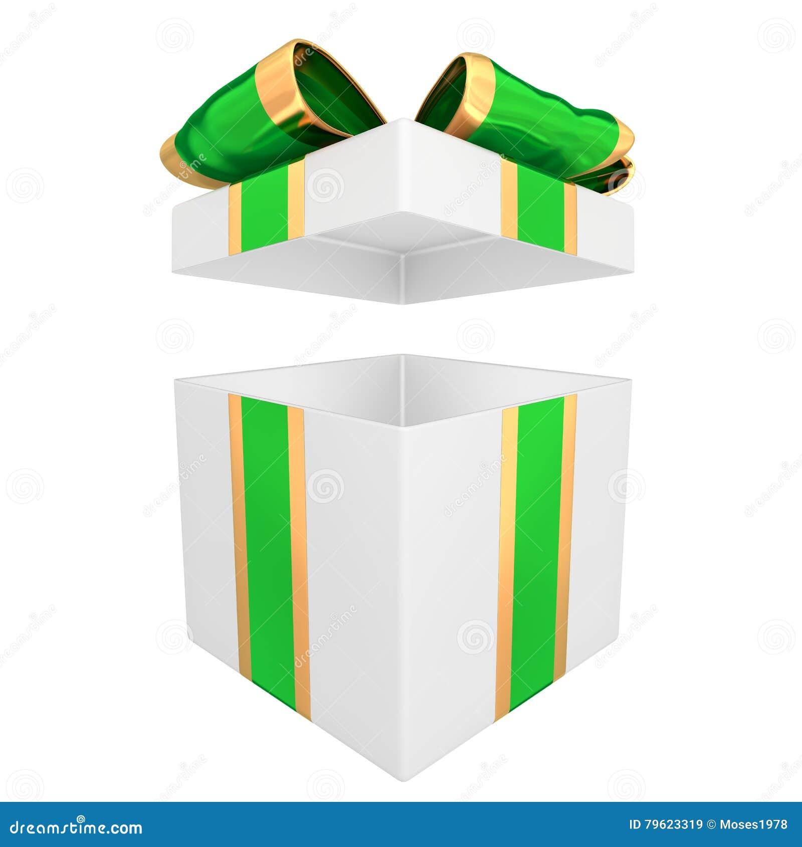 A caixa de presente 3D rende