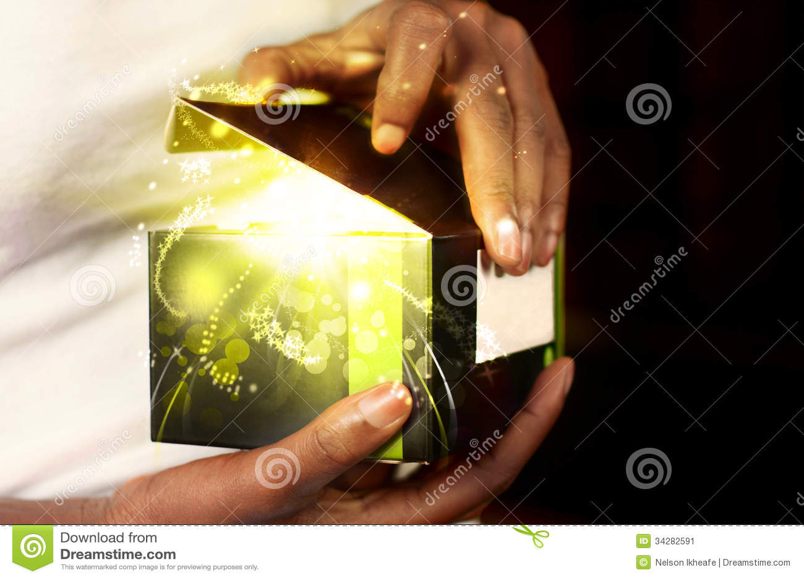 Caixa de presente mágica