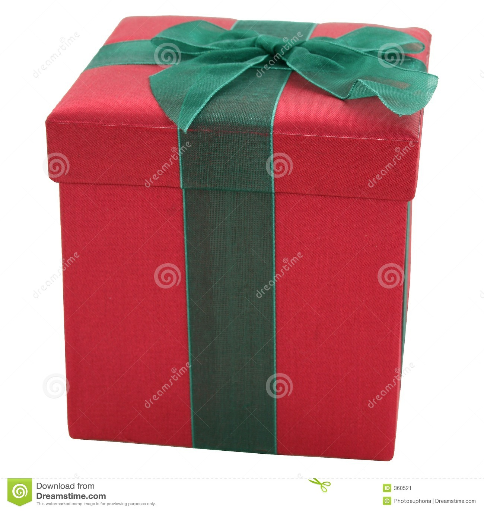 Caixa de presente vermelha e verde da tela