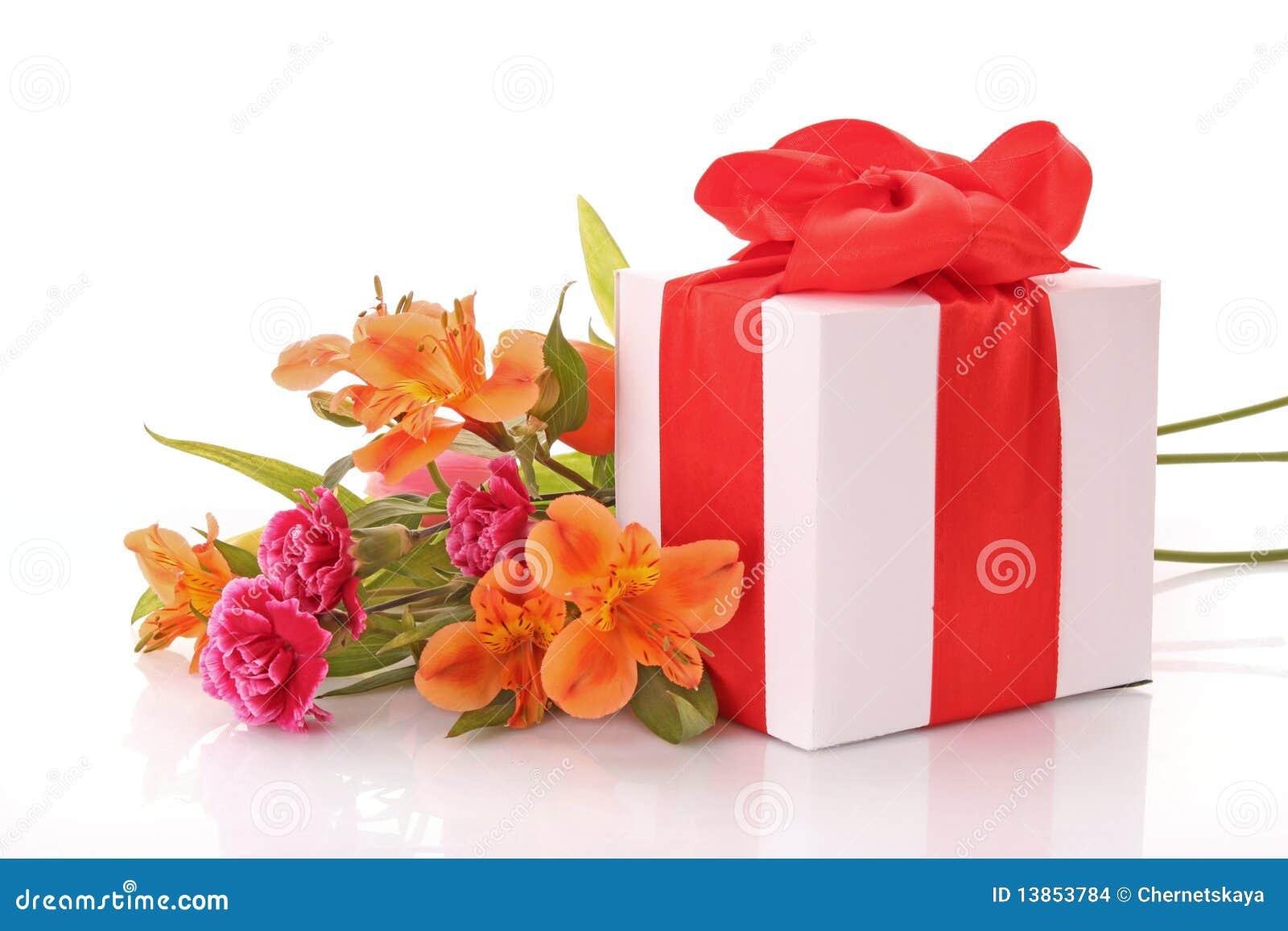 Caixa E Flores De Presente Imagens de Stock Imagem: 13853784 #B75414 1300x957