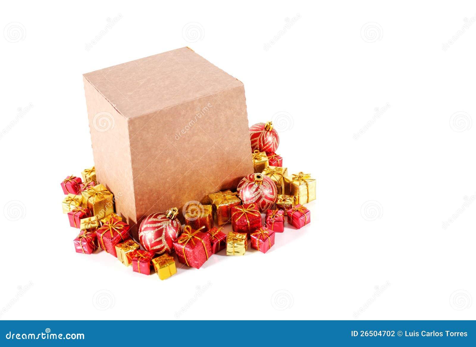 Caixa e ornamento do Panettone