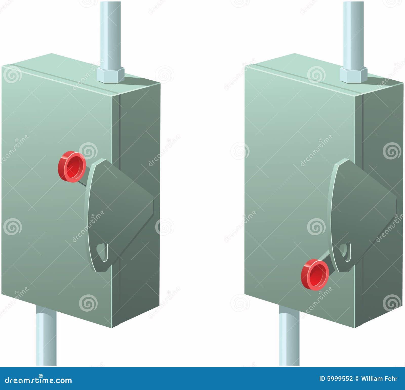 Caixa elétrica com shutoff