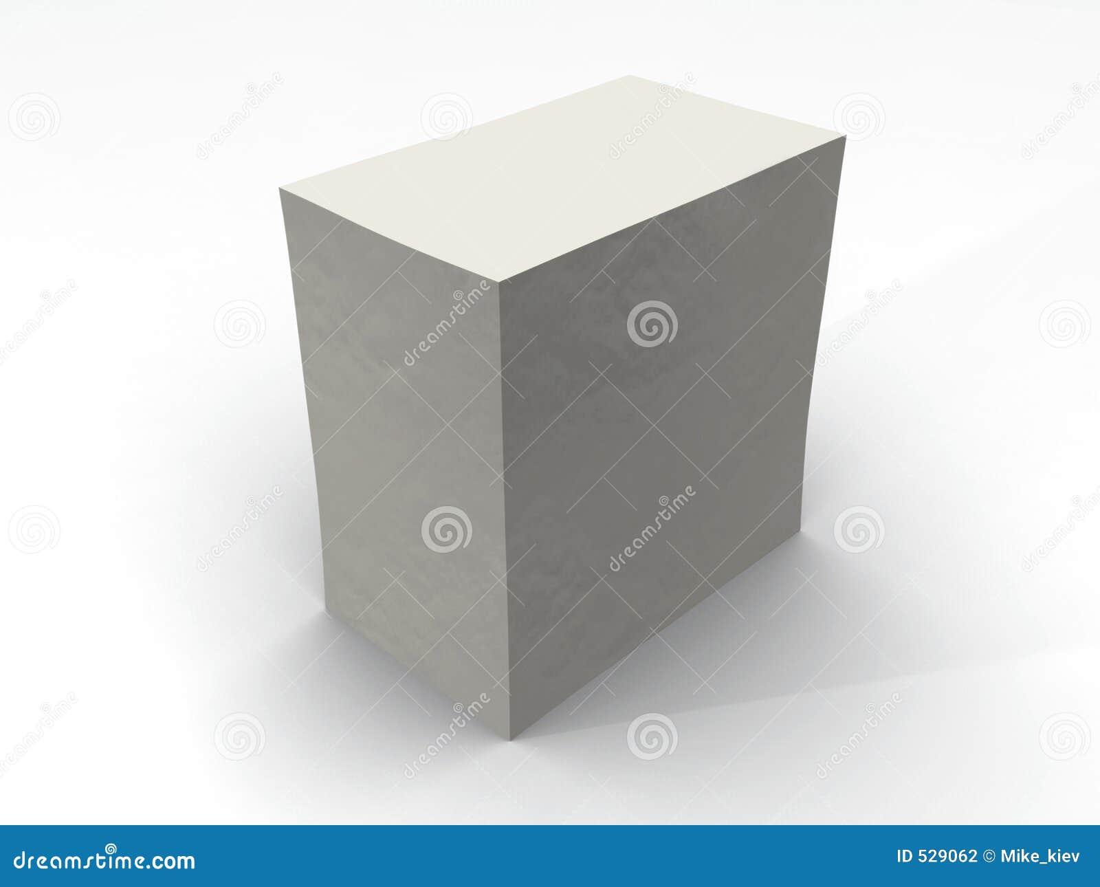 Caixa fechada branca