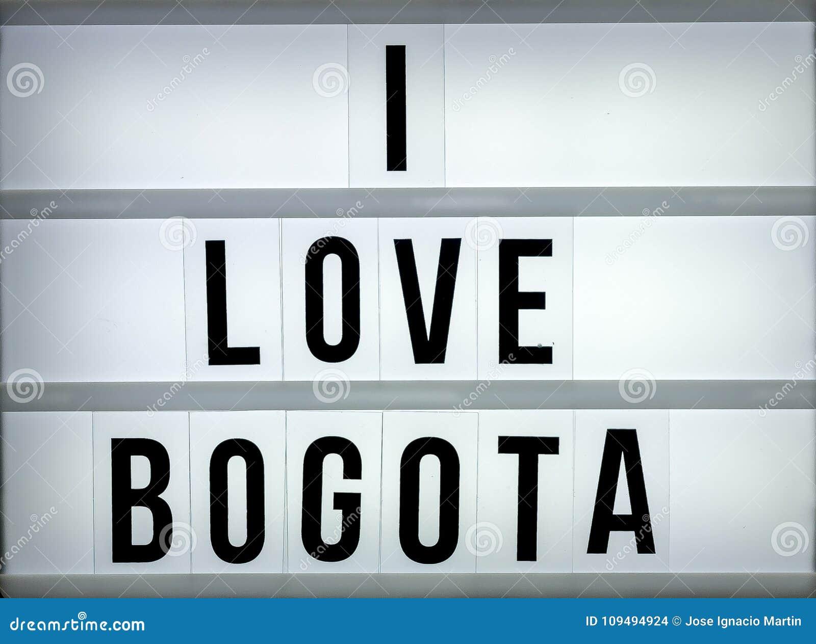 Caixa leve eu amo Bogotá
