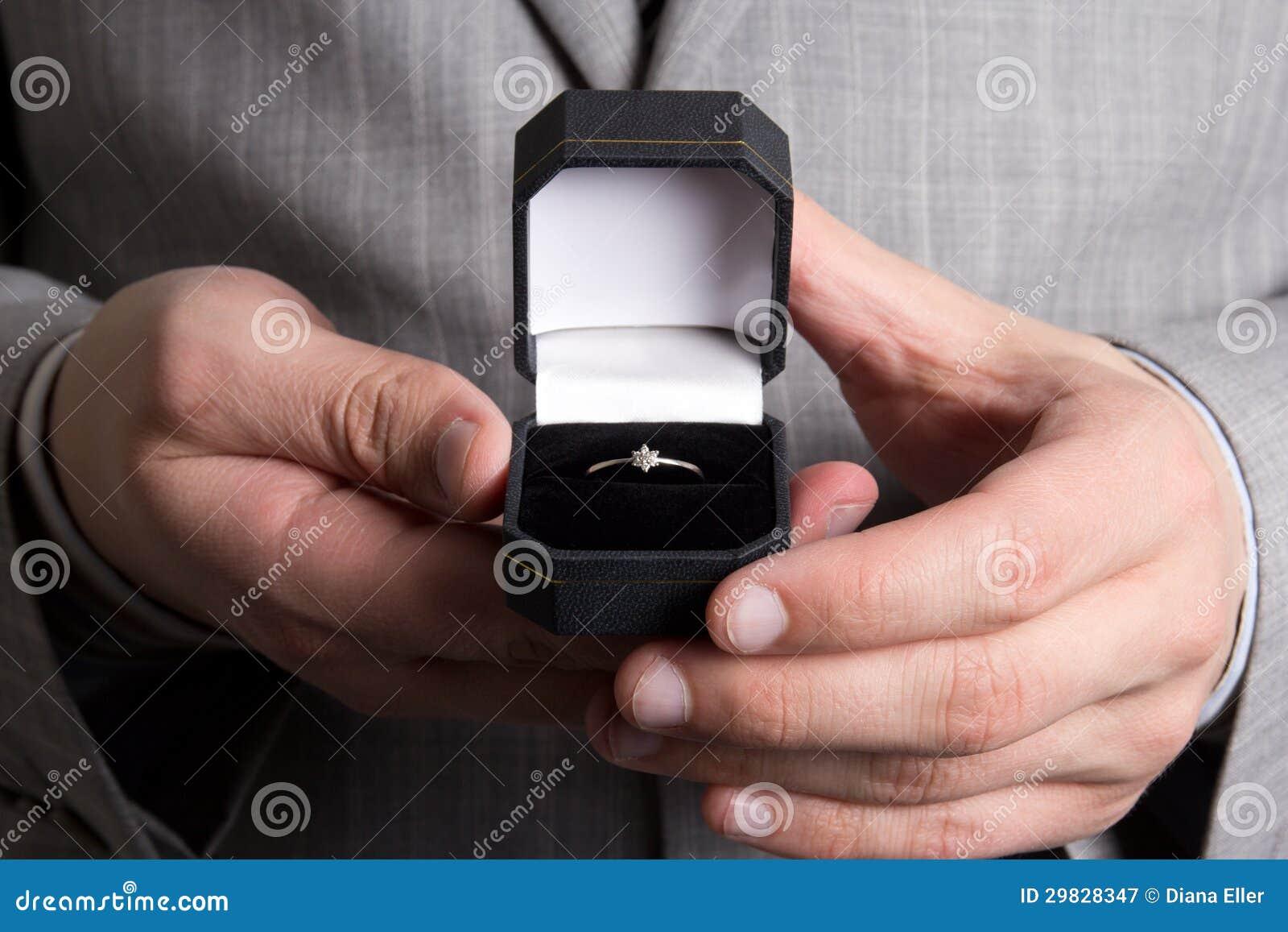 Caixa negra com anel dourado