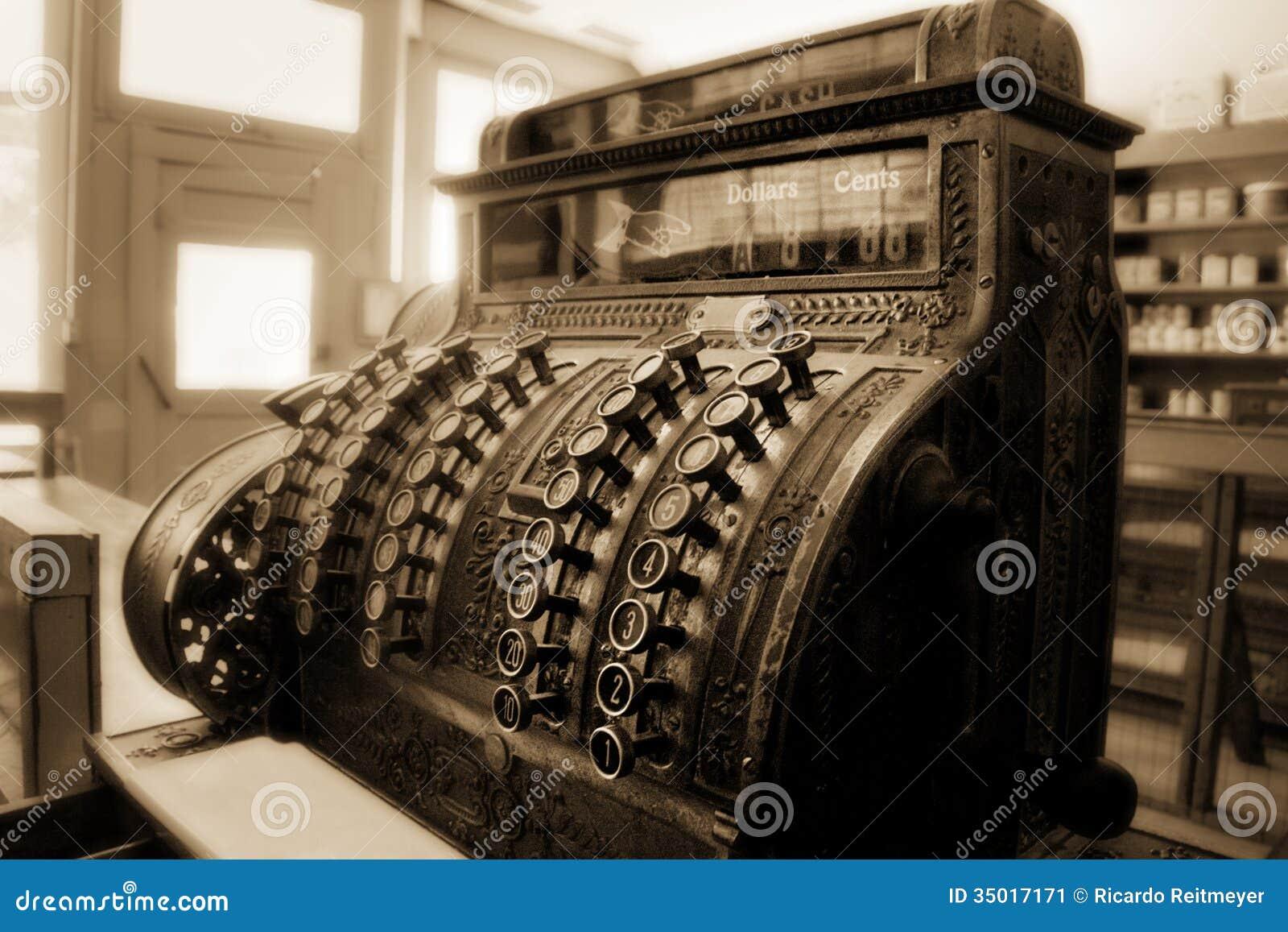 Caixa registadora antiquado ainda Doing Business