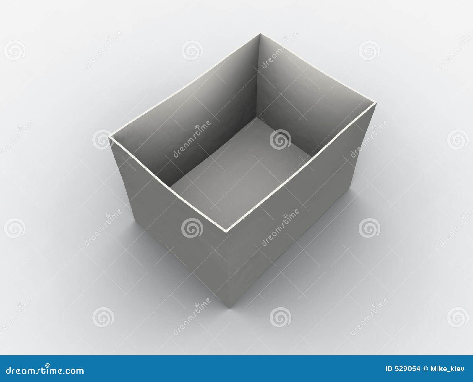 Caixa vazia branca