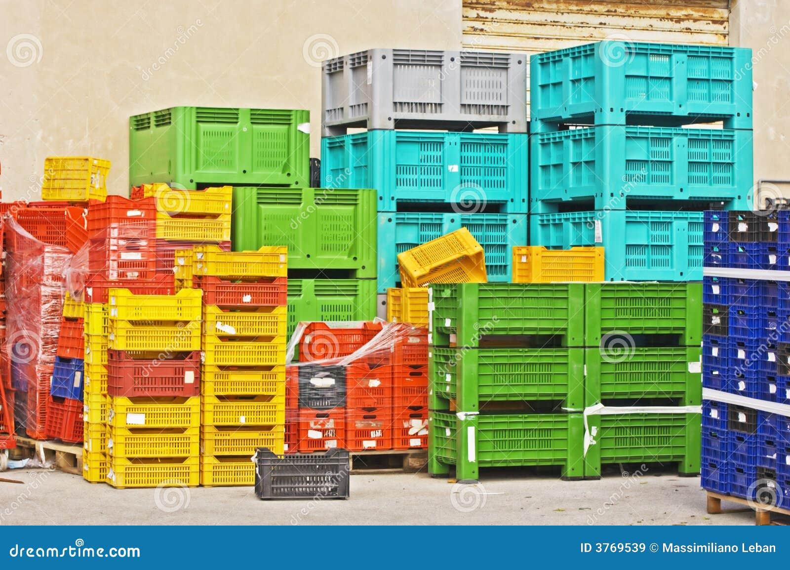 Caixas coloridas
