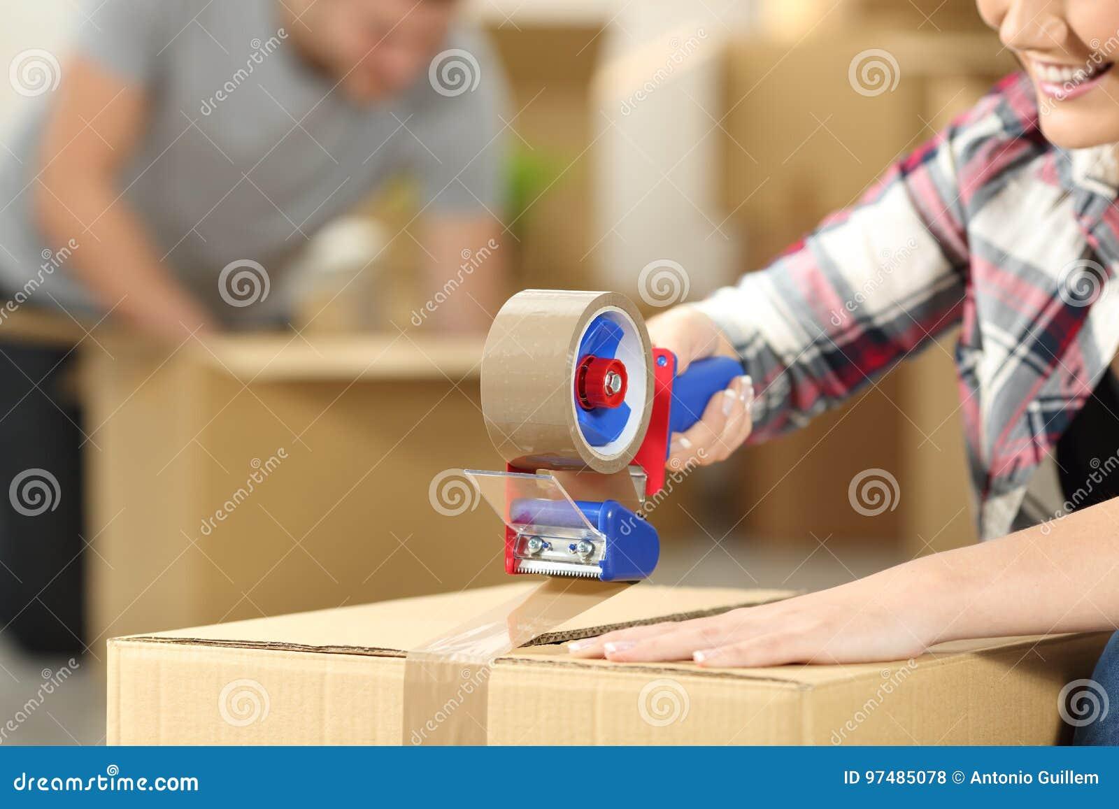 Caixas de embalagem home moventes dos pares
