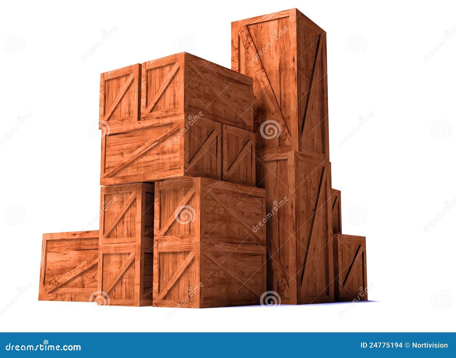 Imagens de Stock: Caixas de madeira da importação da exportação da  #BD480E 1300x1038