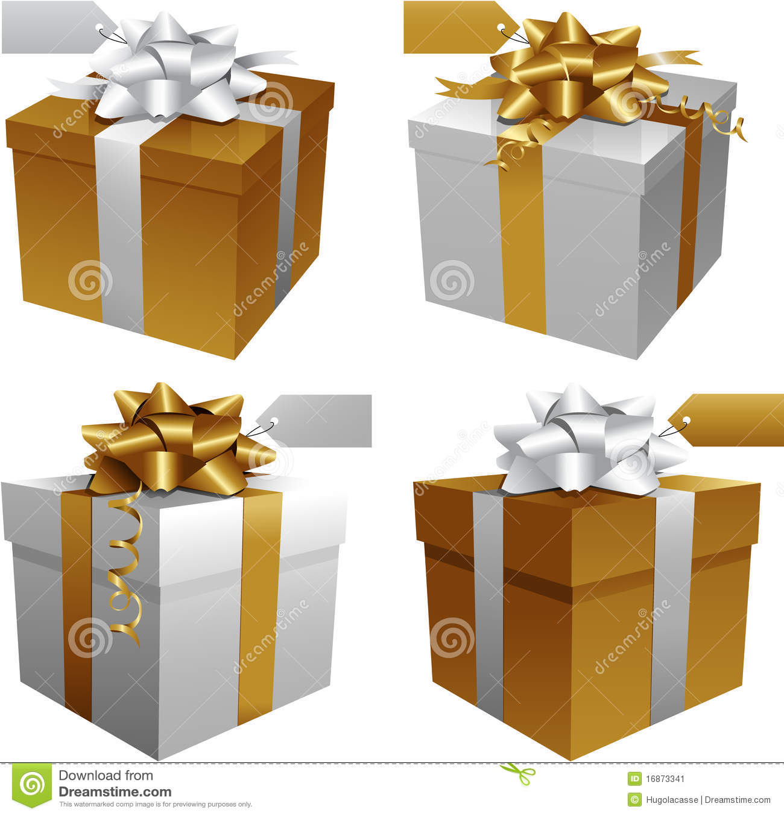 Caixas de presente do Natal