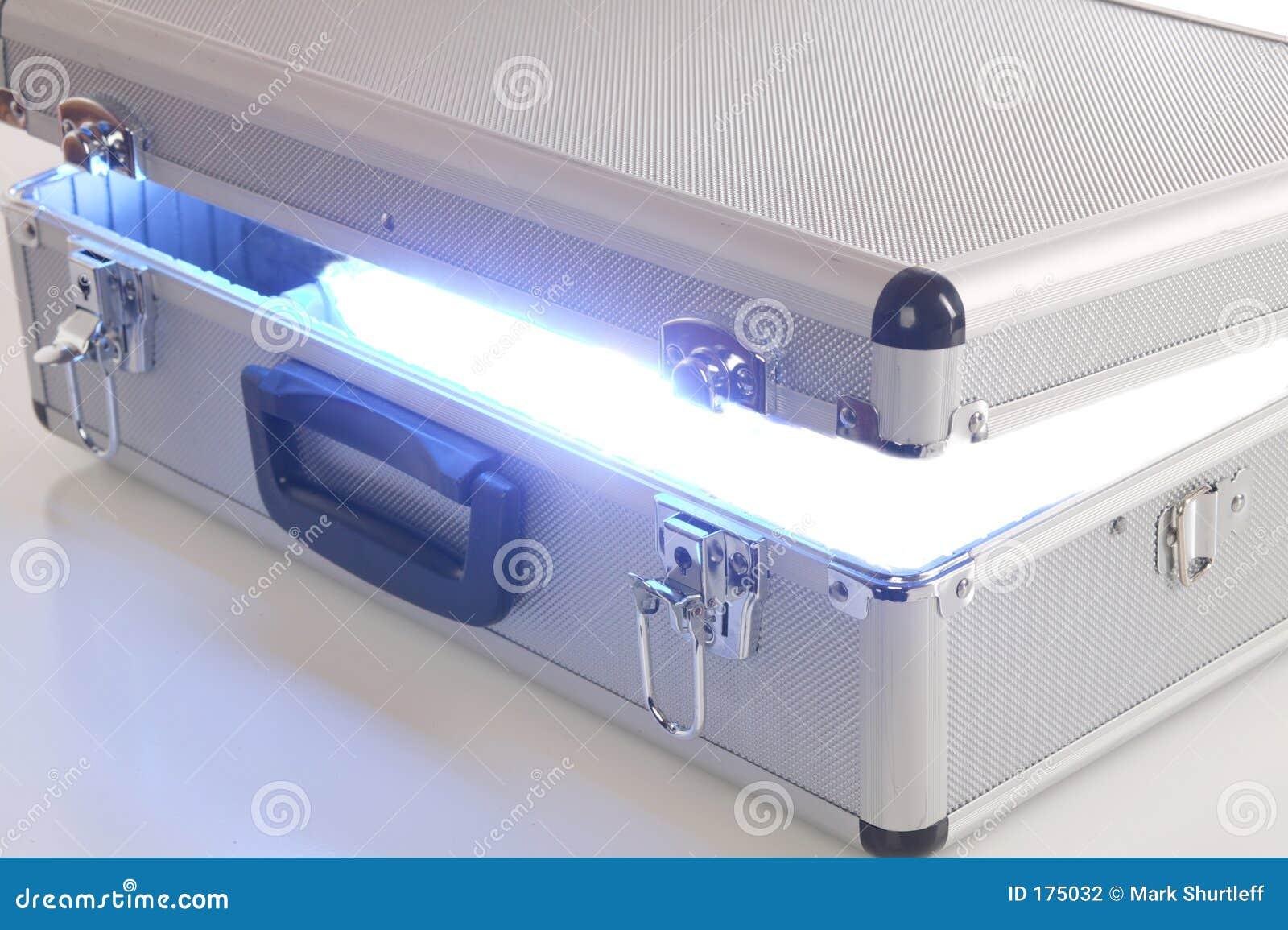 Caja azul de la energía