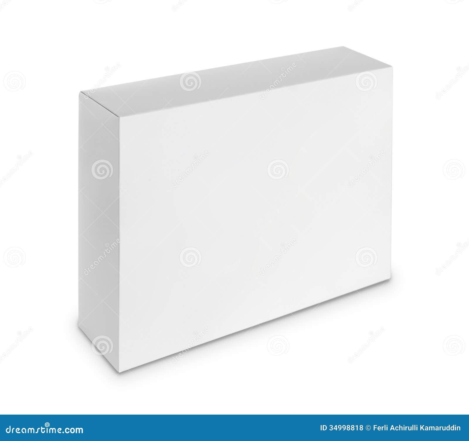 Caja blanca en blanco