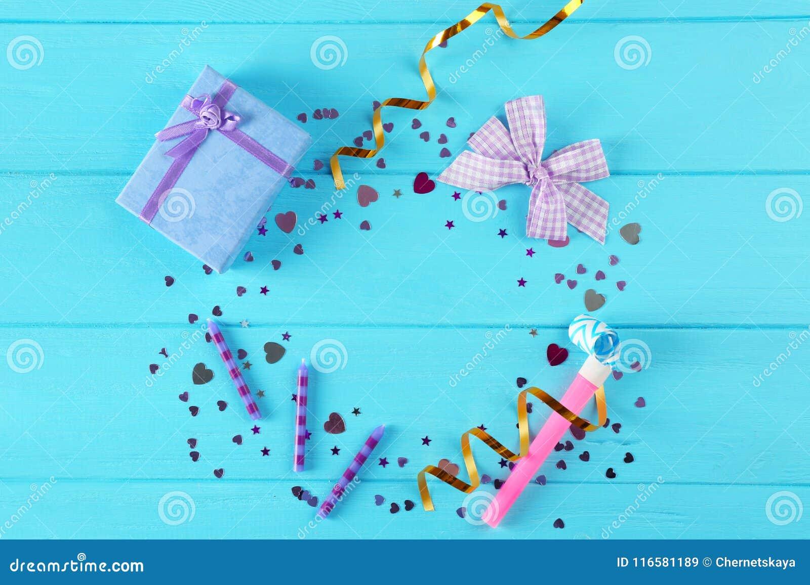 Caja brillante del confeti y de regalo