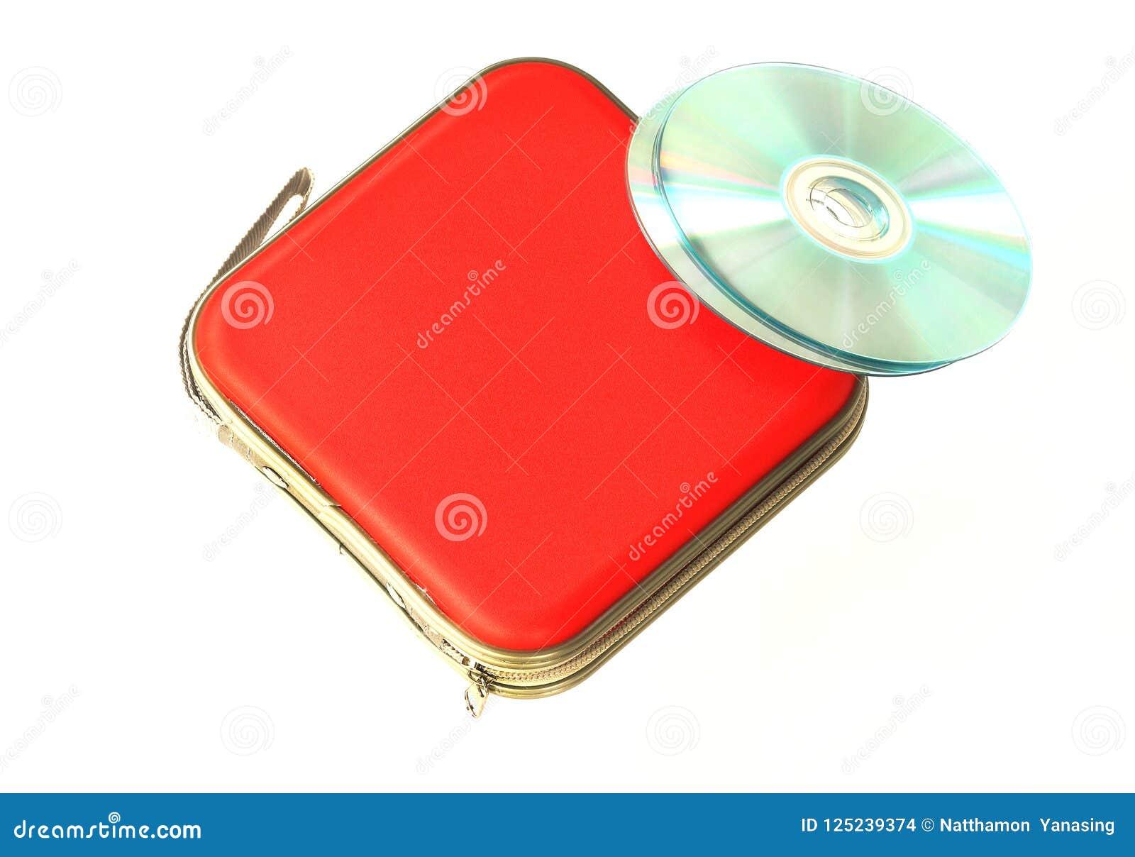 Caja CD aislada en el fondo blanco