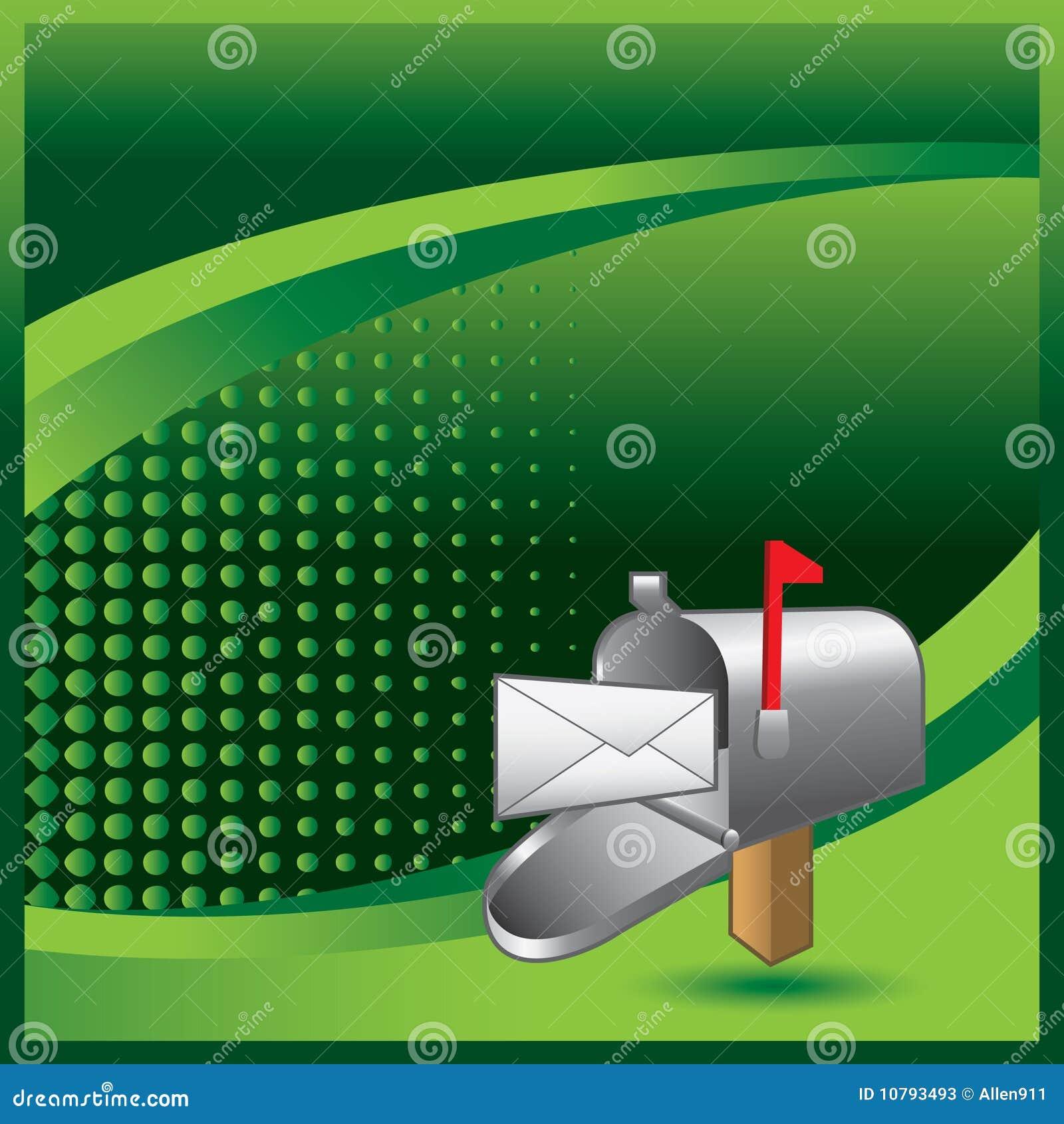 Caja con la carta adentro en banne