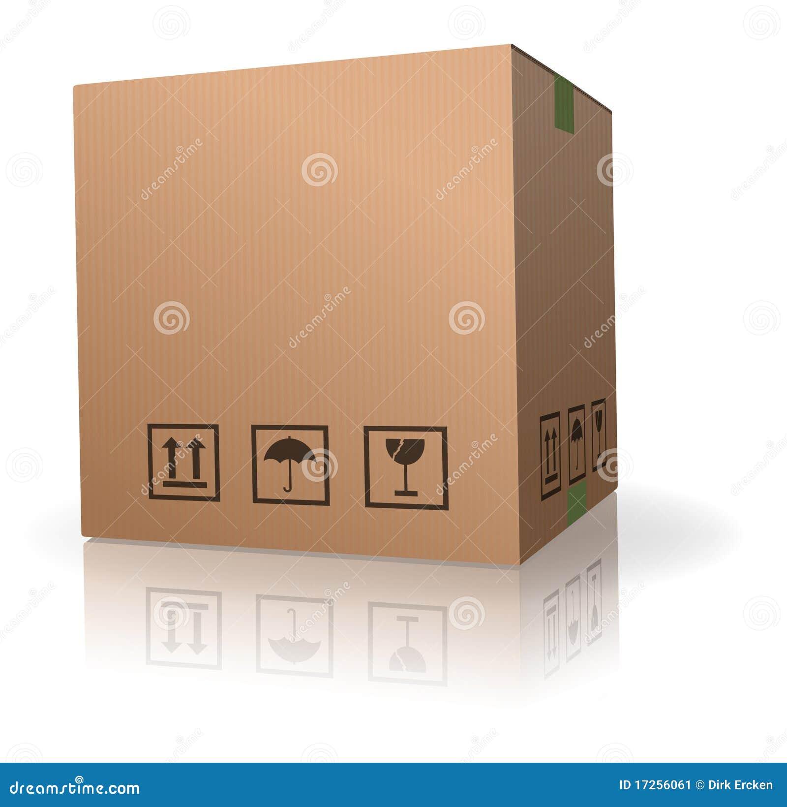 Caja de cart n del almacenaje de brown imagen de archivo for Cajas carton almacenaje