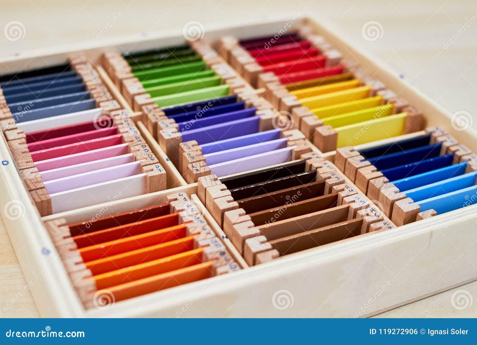 Caja de color de Montessori 3