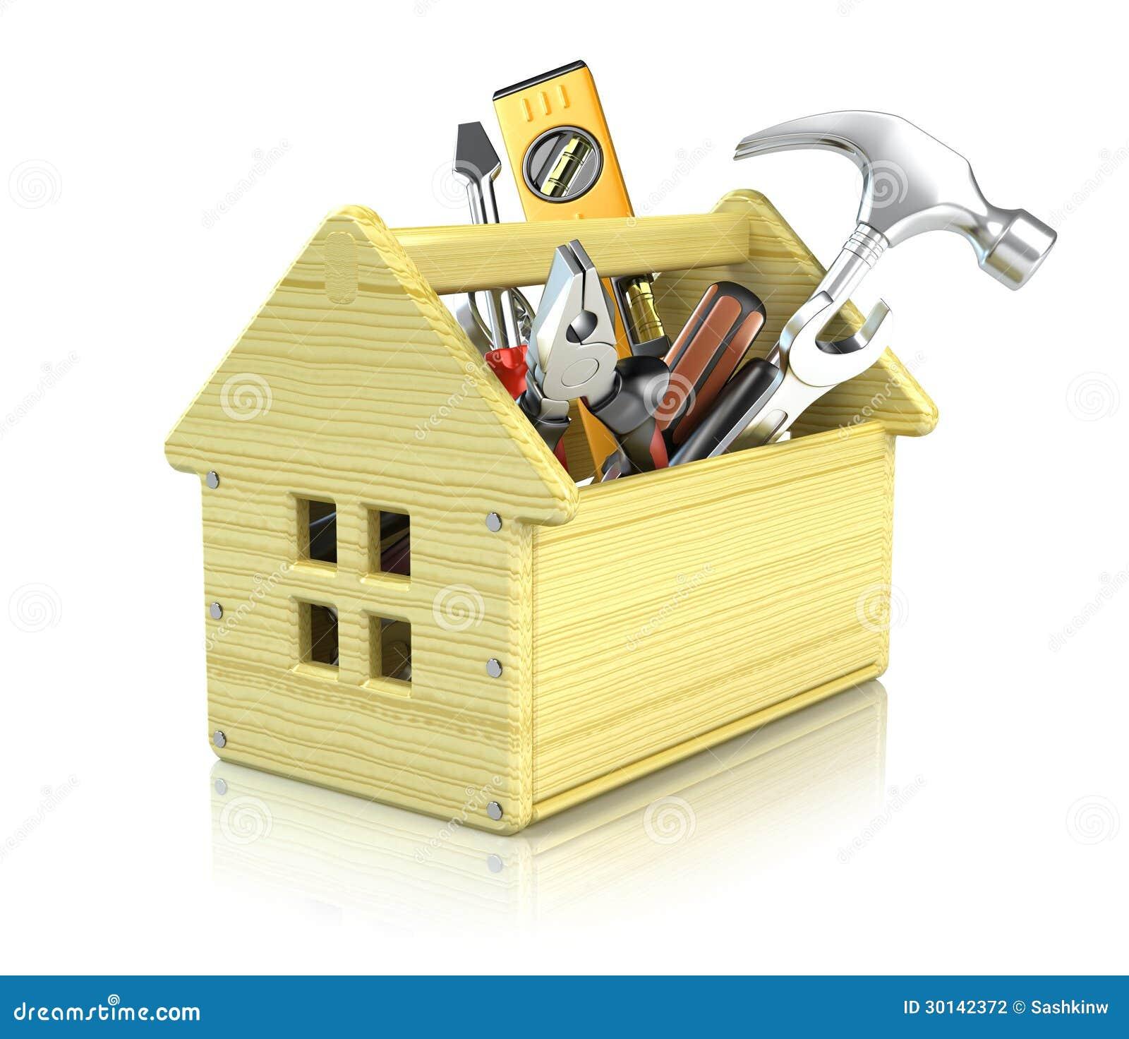 Caja de herramientas de la casa fotograf a de archivo for Casa para herramientas