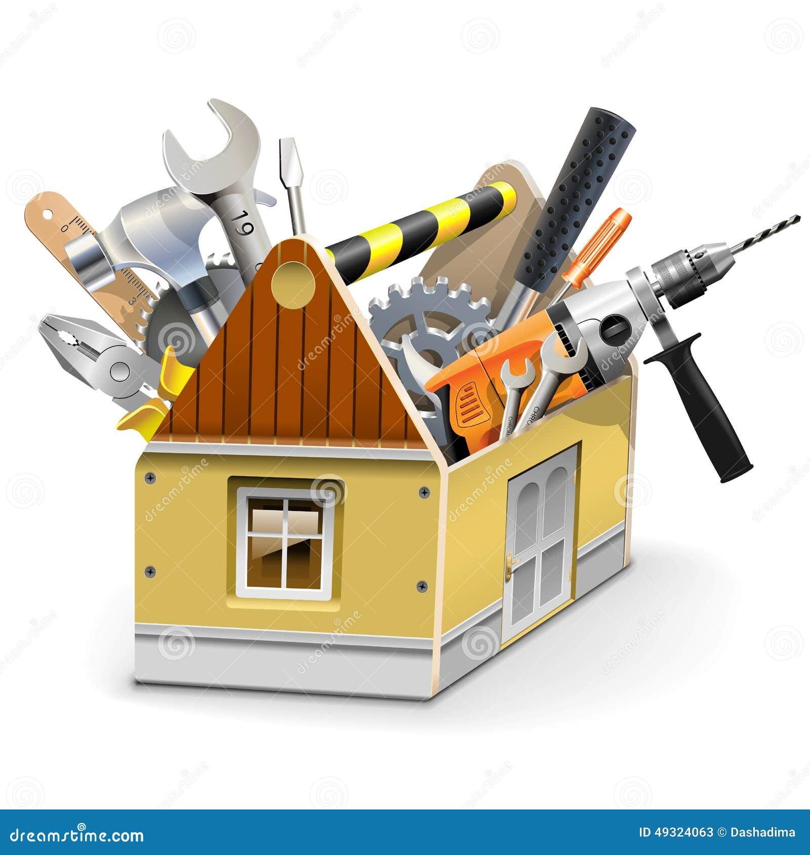 caja de herramientas de la casa del vector ilustraci n del