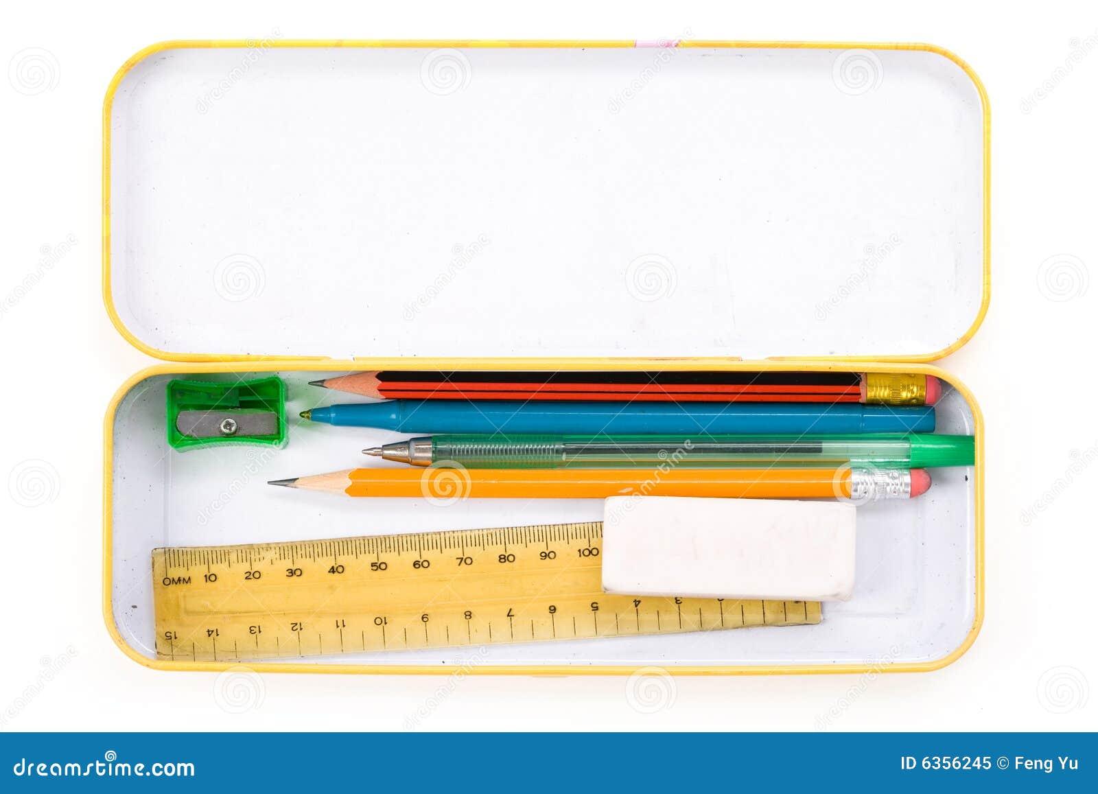 Caja de lápiz del metal