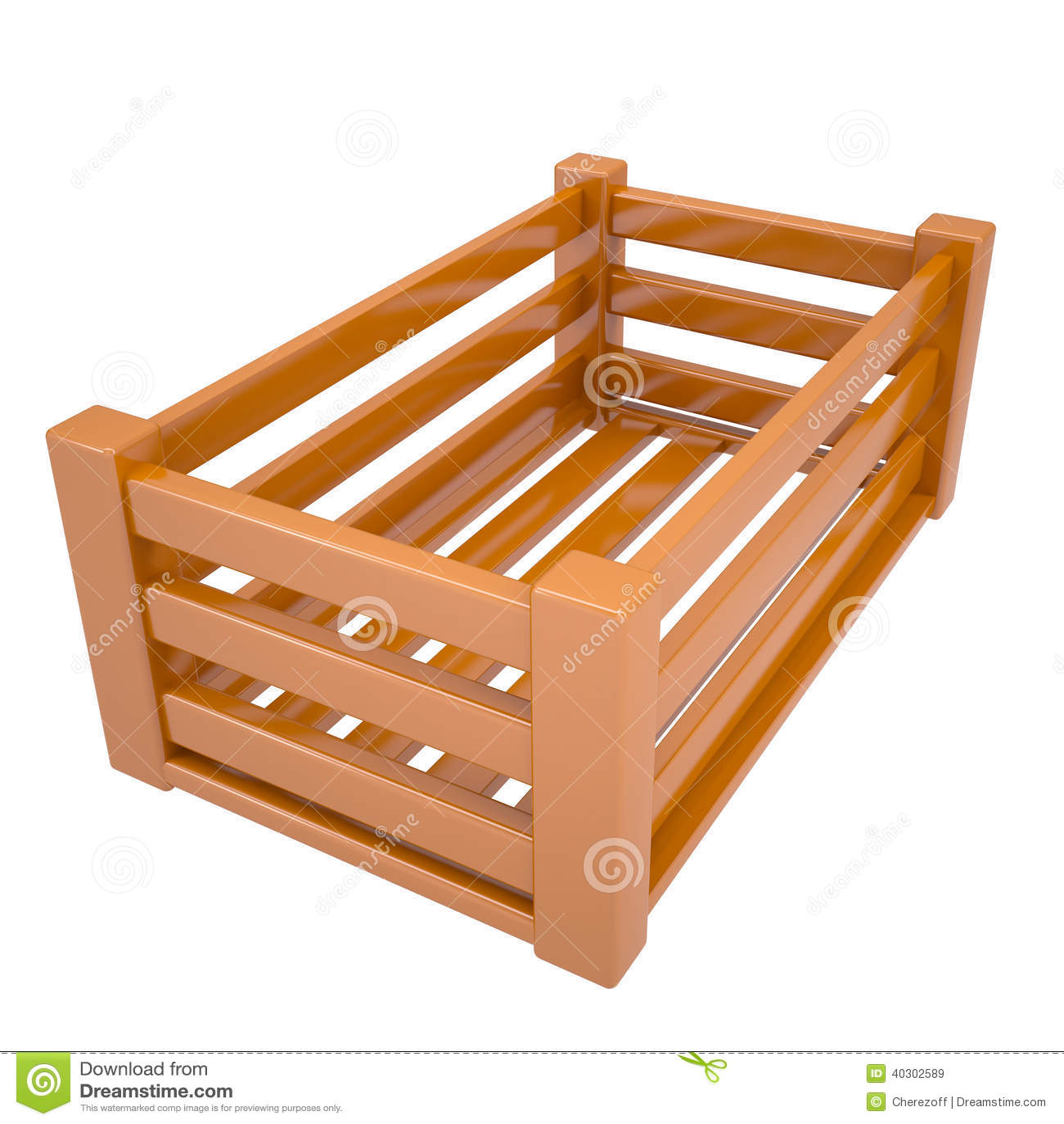 Caja de madera para las frutas y verduras stock de ilustraci n ilustraci n de vac o nuevo - Cajas de madera para frutas ...