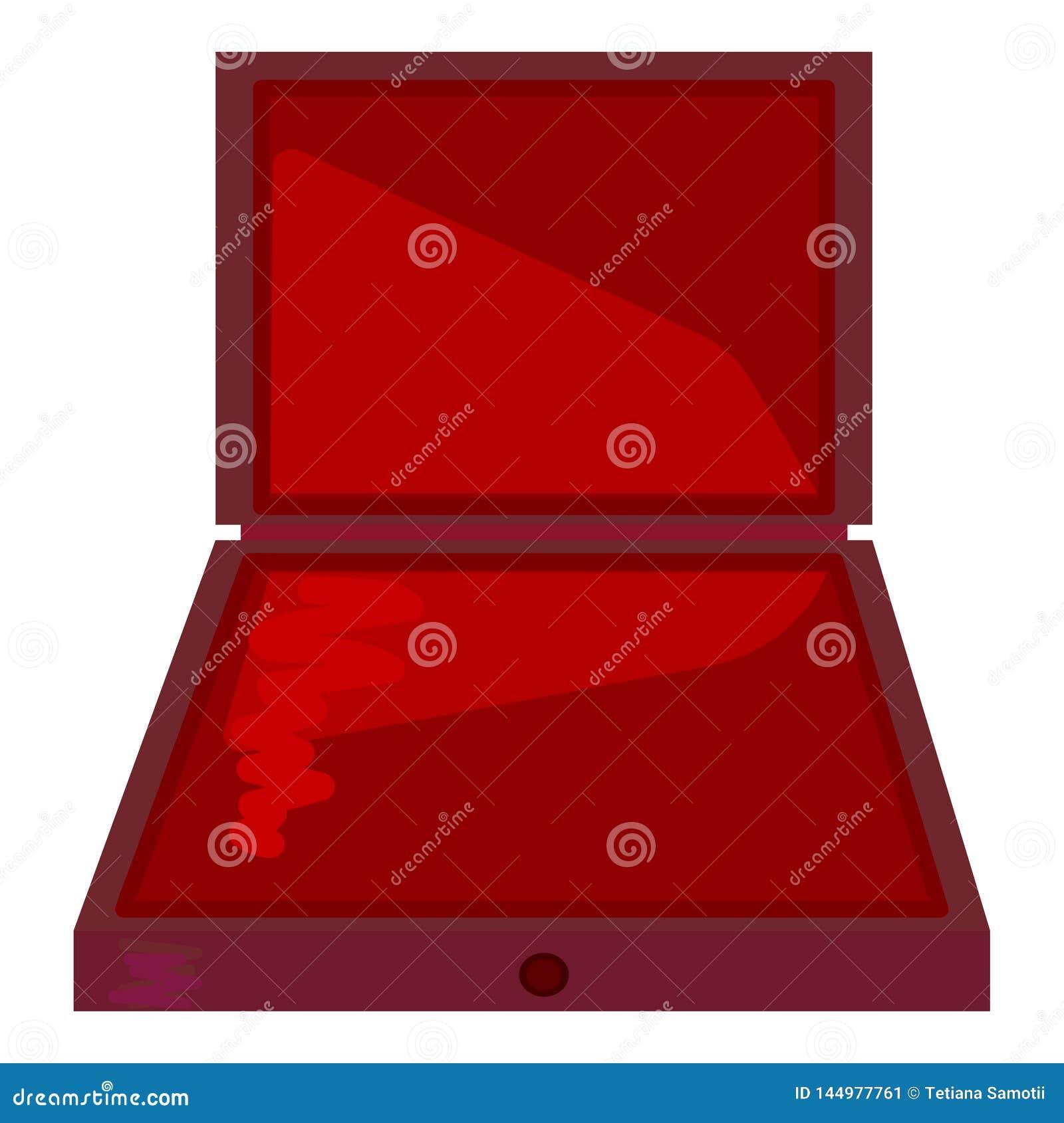 Caja de regalo abierta del paquete de la cartulina del producto Rueda dentada Mofa encima de la plantilla lista para su dise?o Ve
