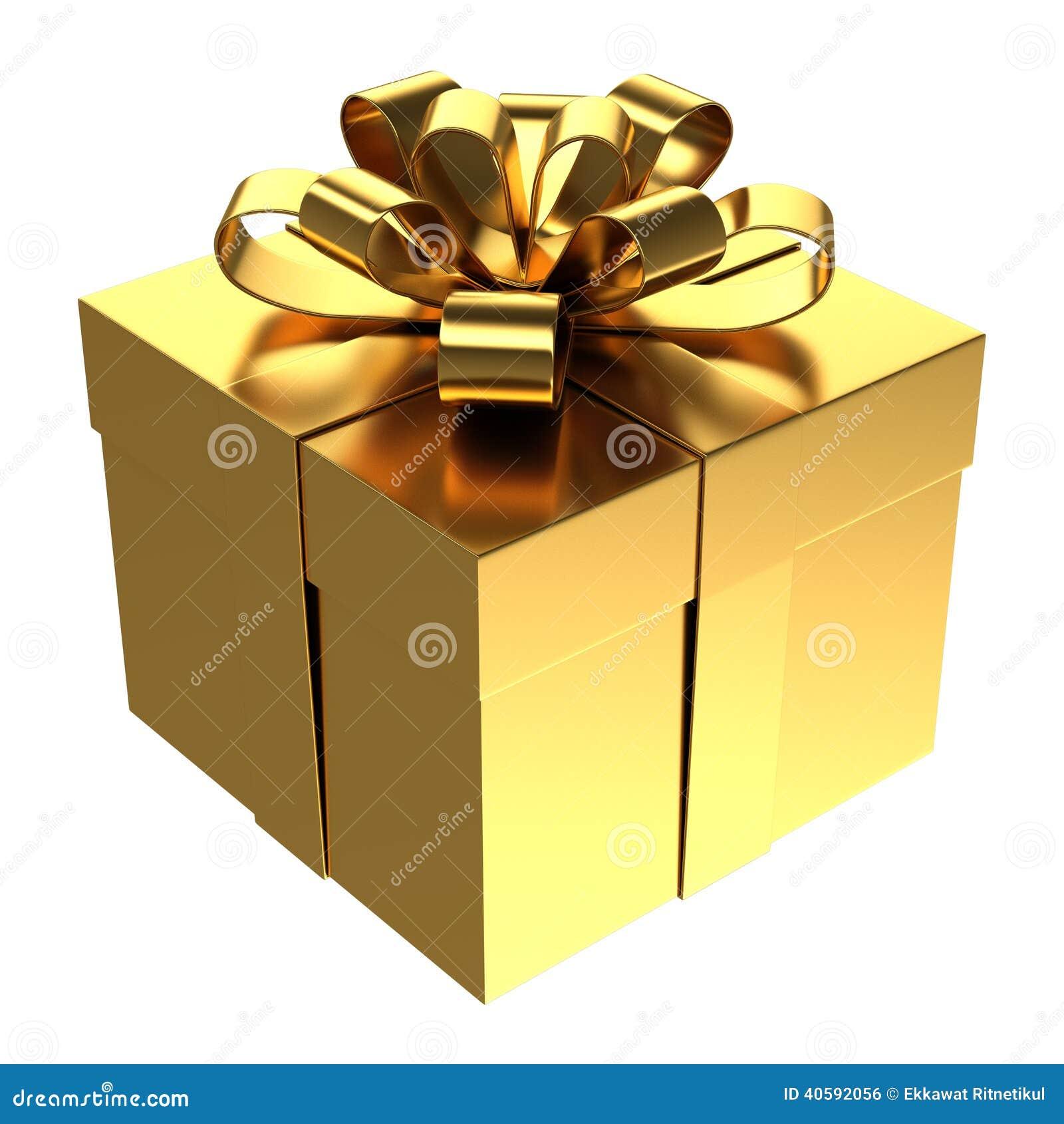 Caja de regalo de oro fondo transparente del png foto de - Papel de regalo transparente ...