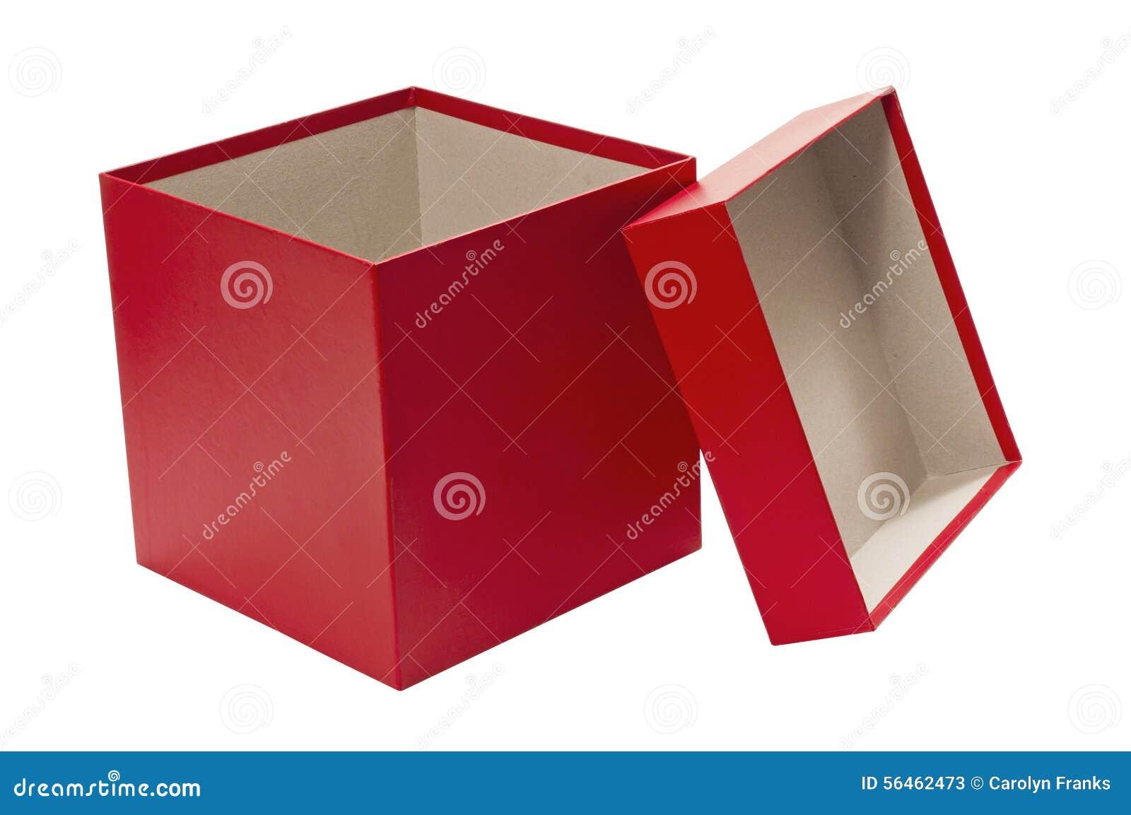 Caja de regalo roja de la navidad vac a con la tapa foto for Como hacer cajas de carton para regalo
