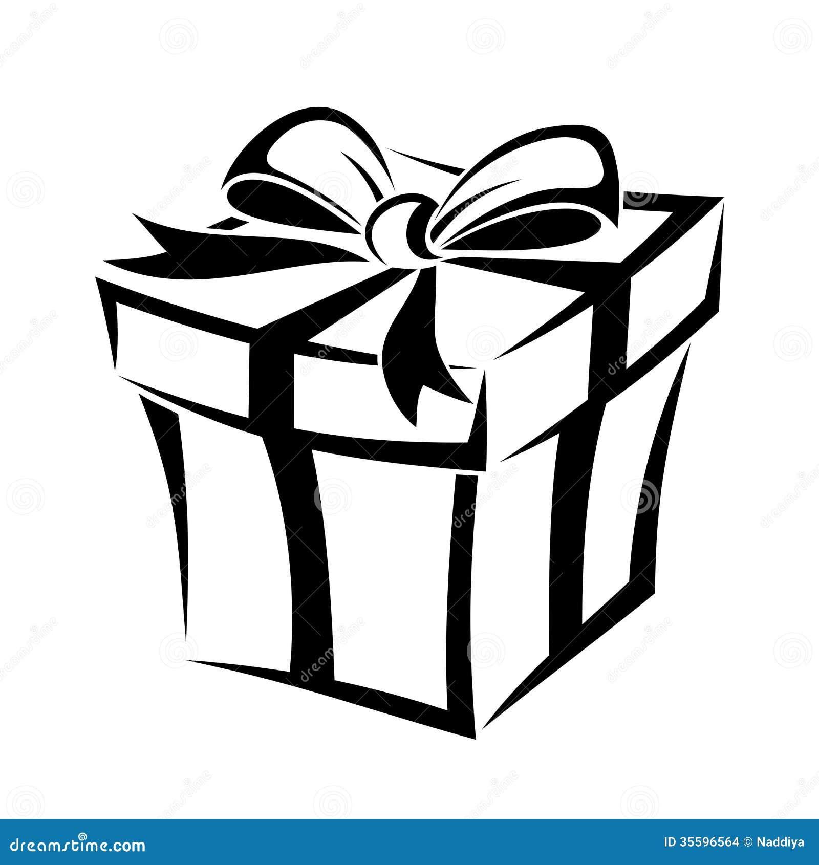 Caja de regalo silueta negra ilustraci n del vector - Regalos de muebles gratis ...