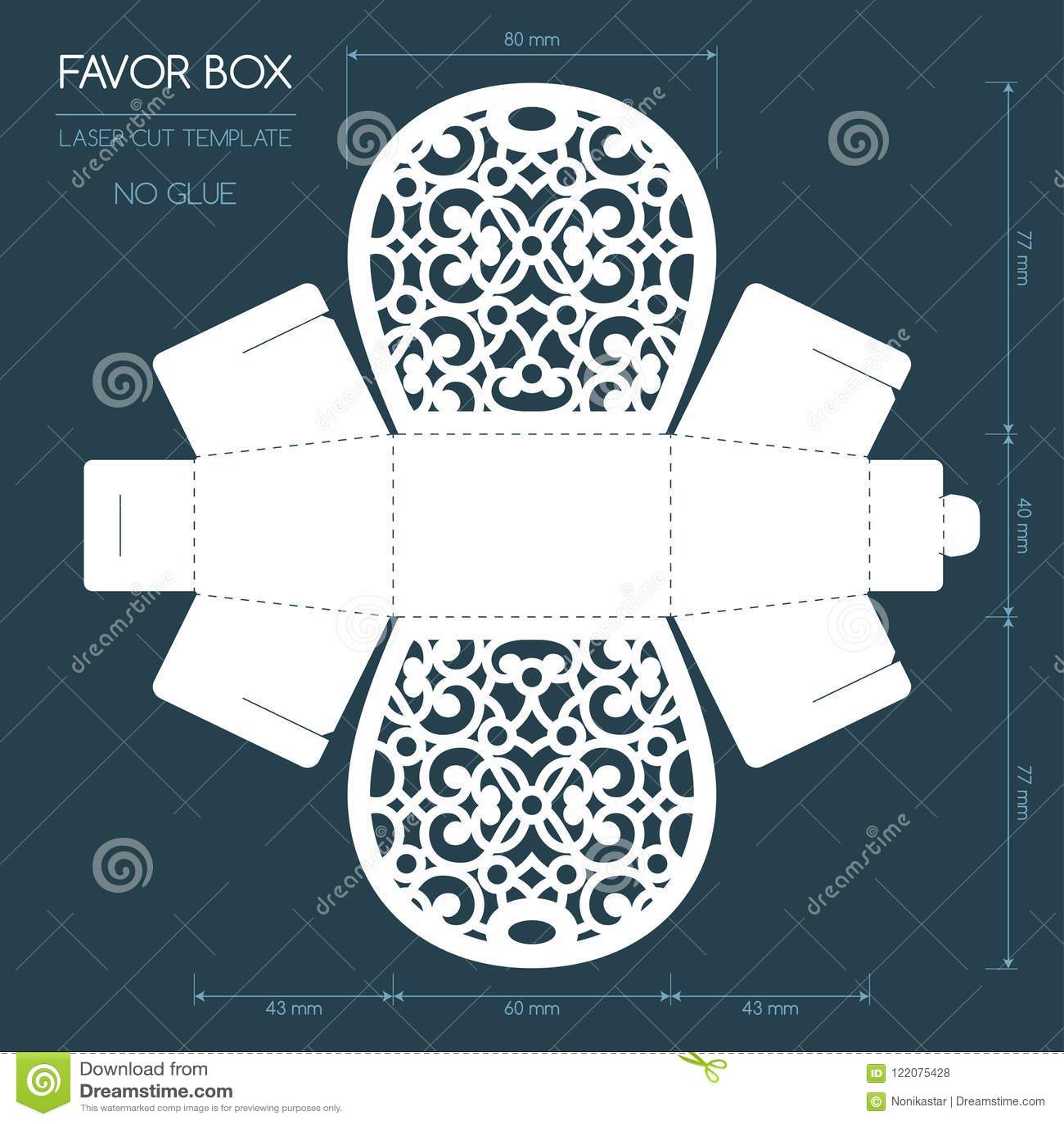 Caja del favor del corte del laser