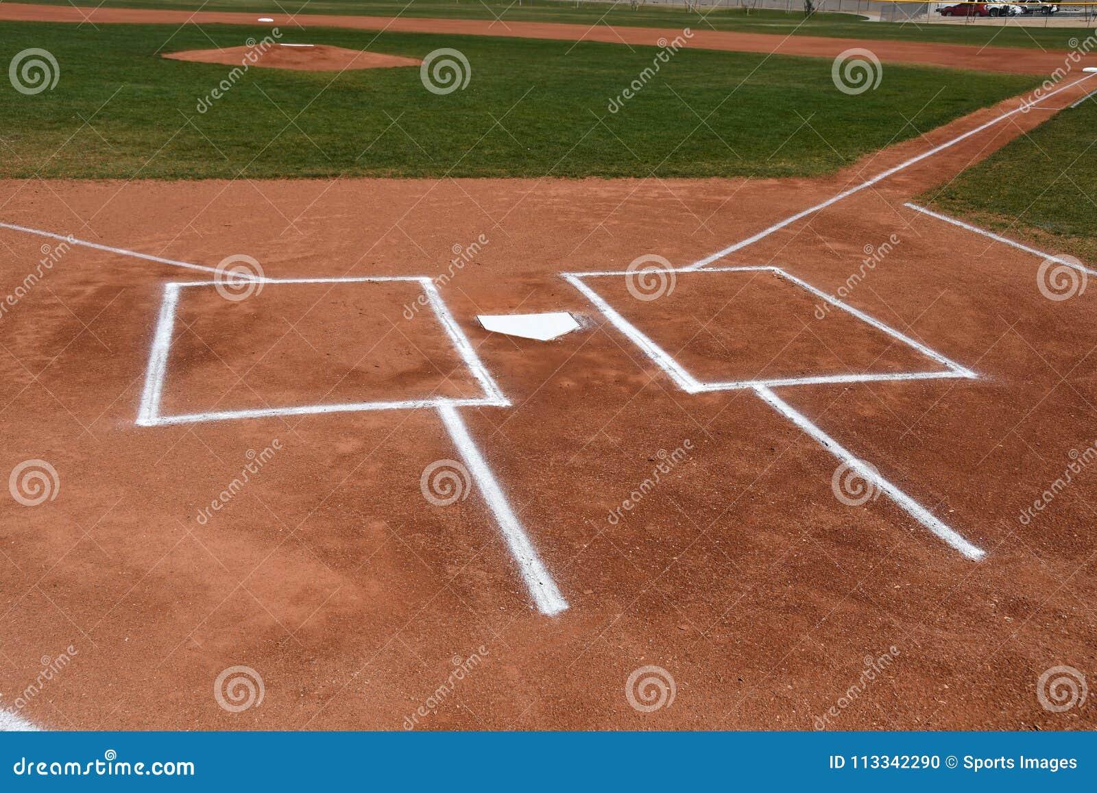 Caja del ` s de la meta y del talud del béisbol