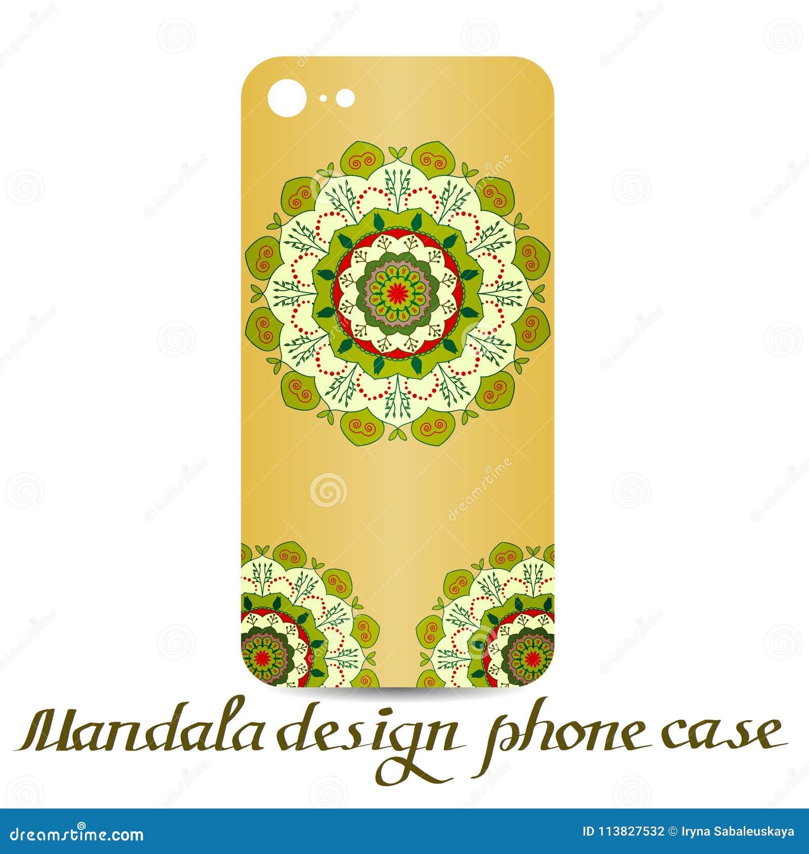 Caja del teléfono del diseño de la mandala Elementos decorativos