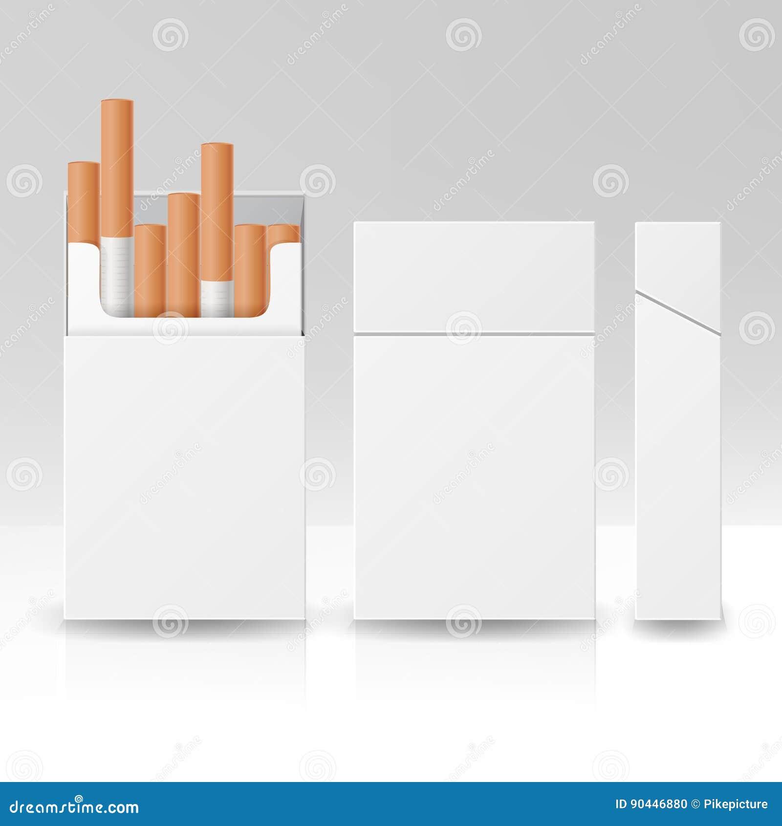 Caja En Blanco Del Paquete Del Paquete De Plantilla Del Cartón Del ...