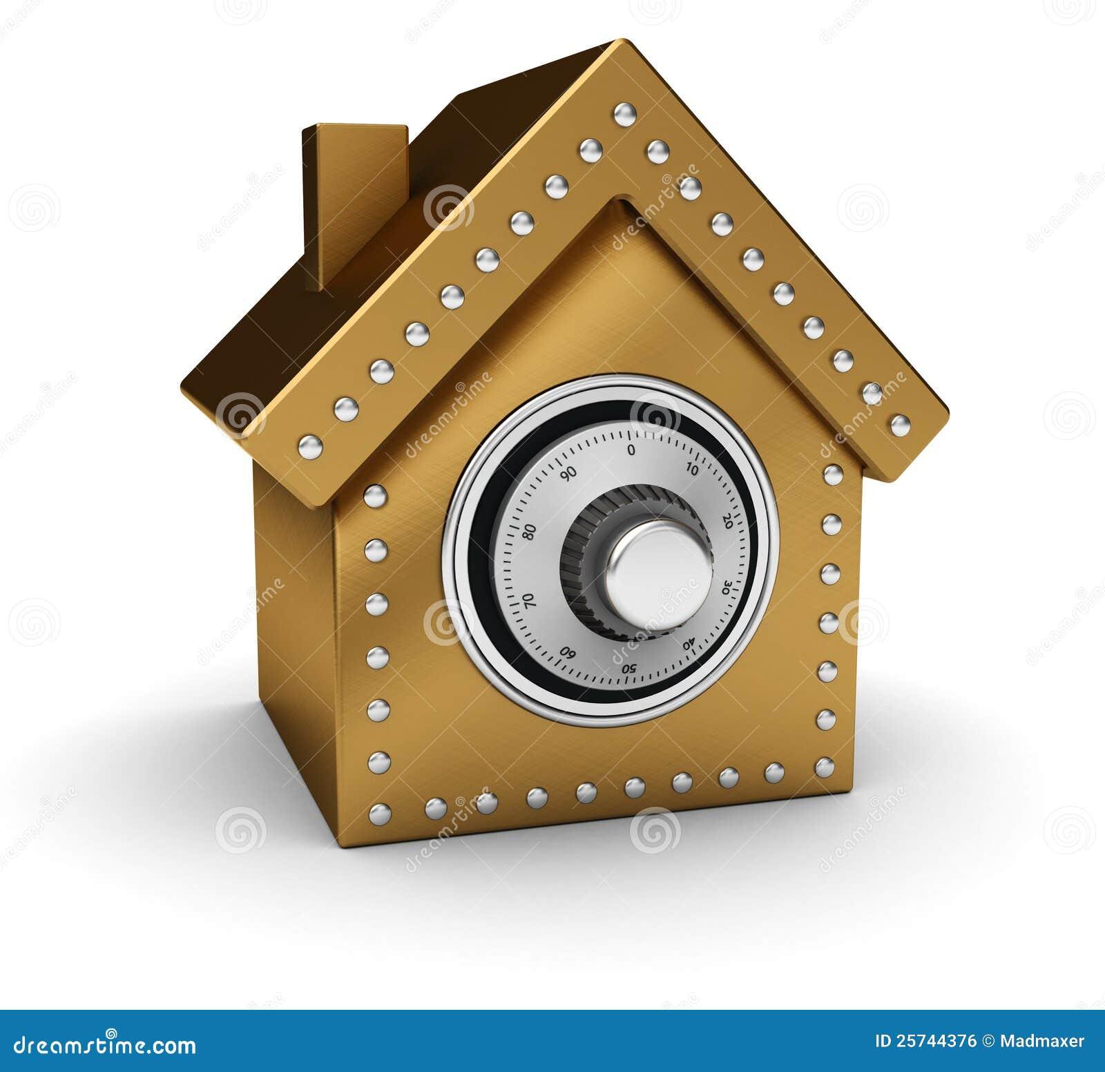 Caja fuerte de la casa del oro imagen de archivo libre de regal as imagen 25744376 - La casa del compas de oro ...