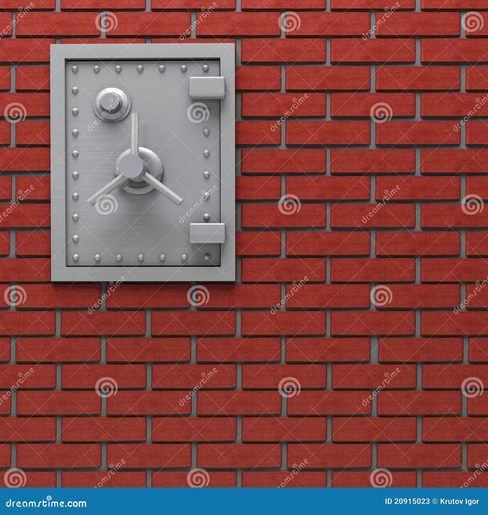 Caja fuerte de la pared.