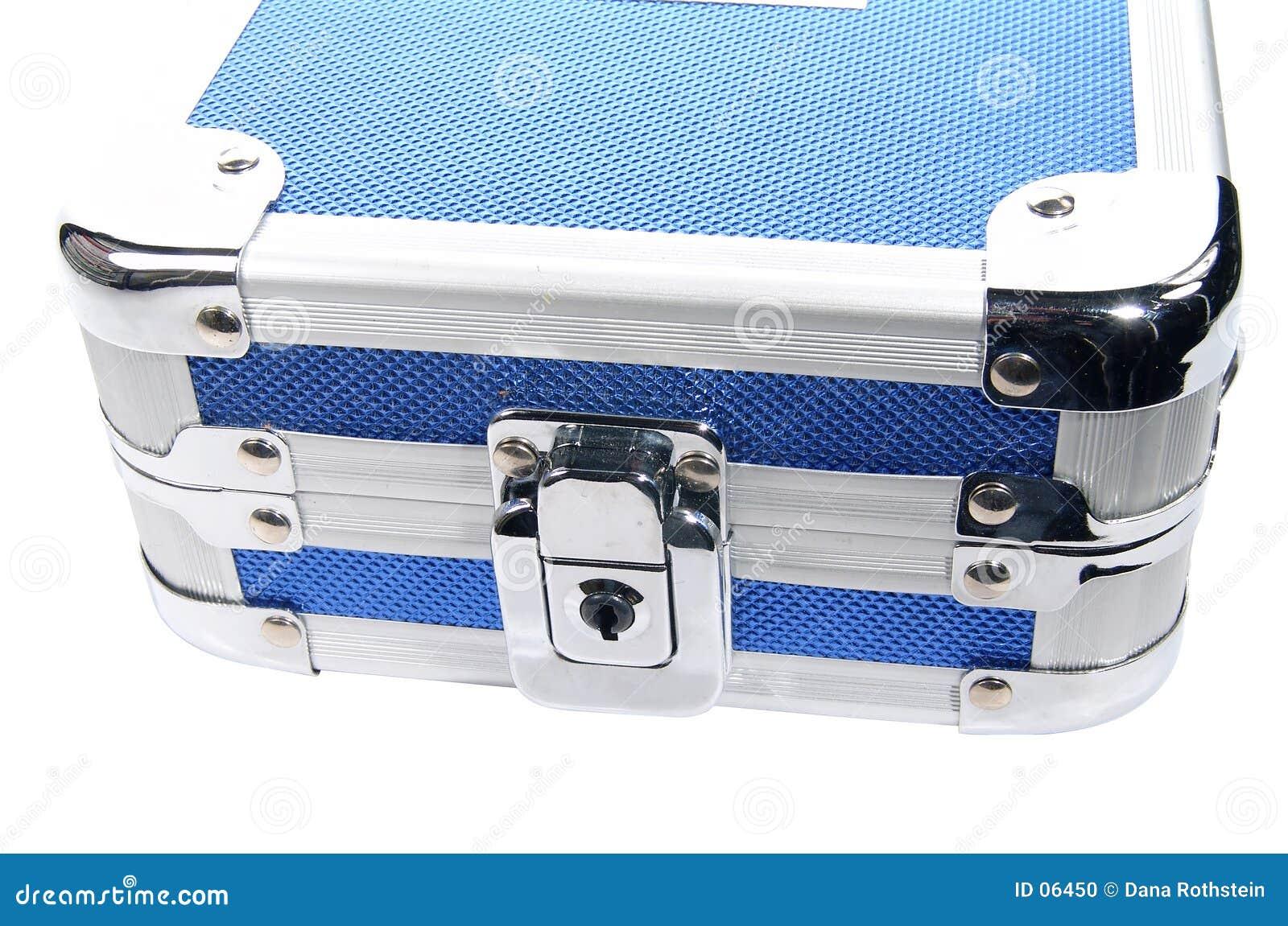 Caja metálica azul