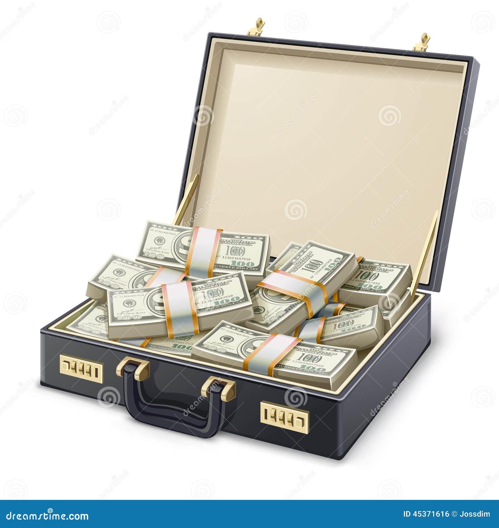Caja por completo de dinero