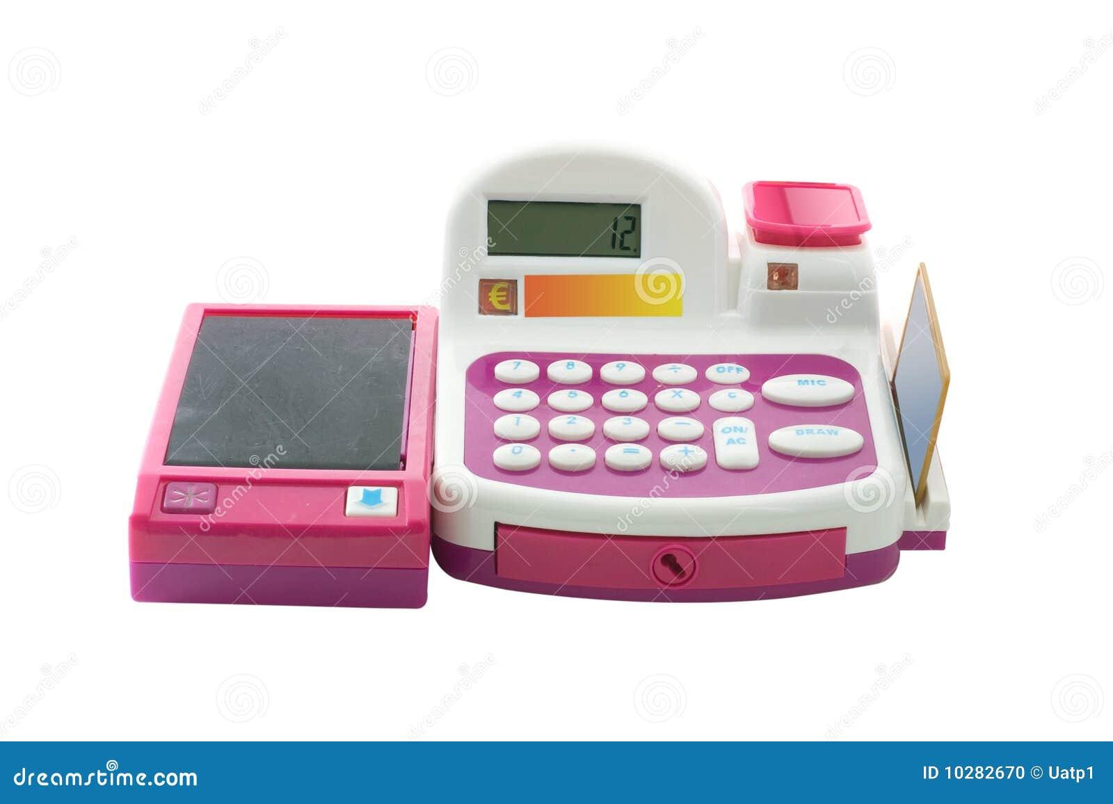 Caja registradora del juguete foto de archivo imagen - Caja registradora juguete ...