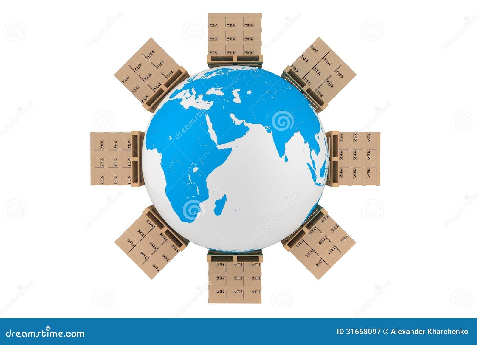 Cajas de cartón en todo el mundo