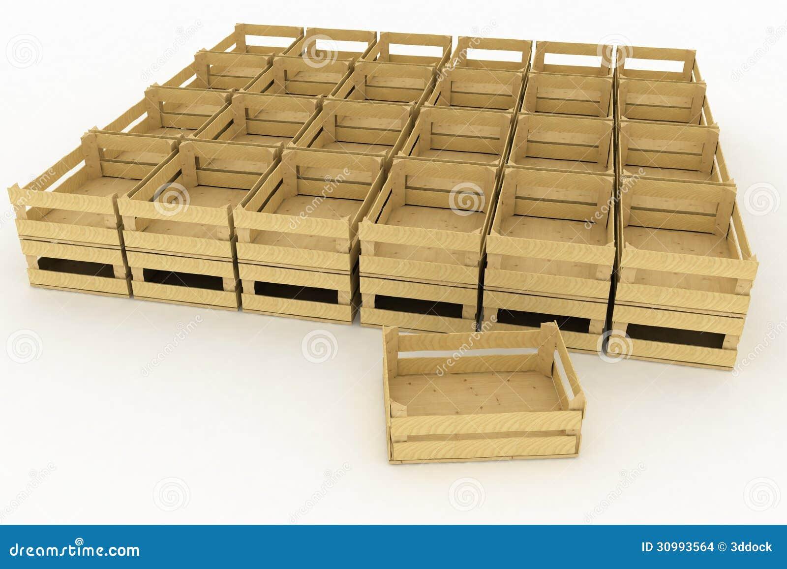 Cajas de madera vac as imagenes de archivo imagen 30993564 - Caja de frutas de madera ...
