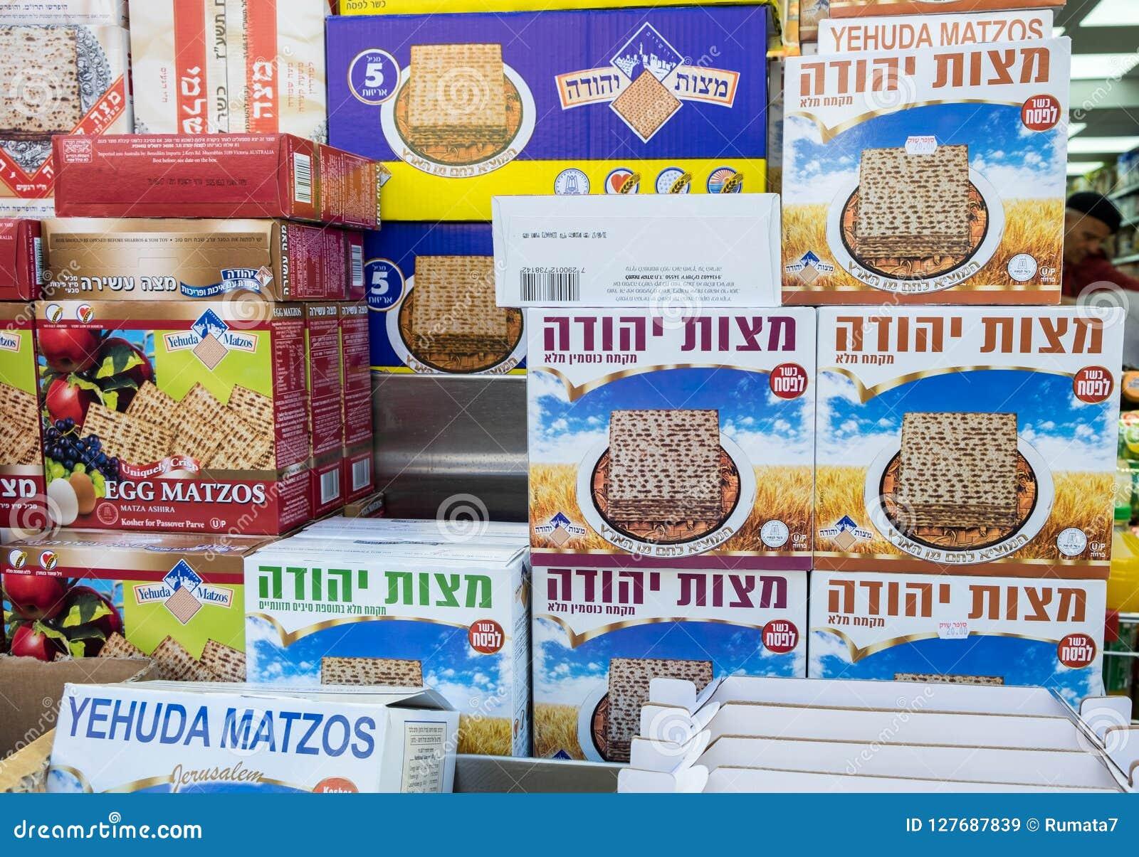 Cajas de Matzot kosher para la pascua judía, para la venta