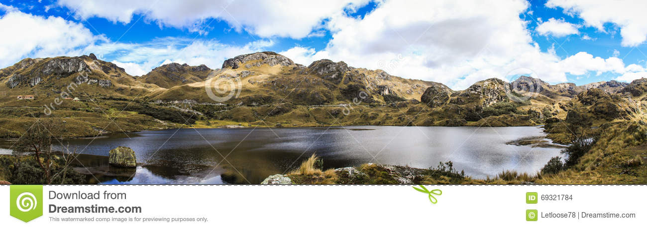 Cajas National Park Panorama, West of Cuenca, Ecuador