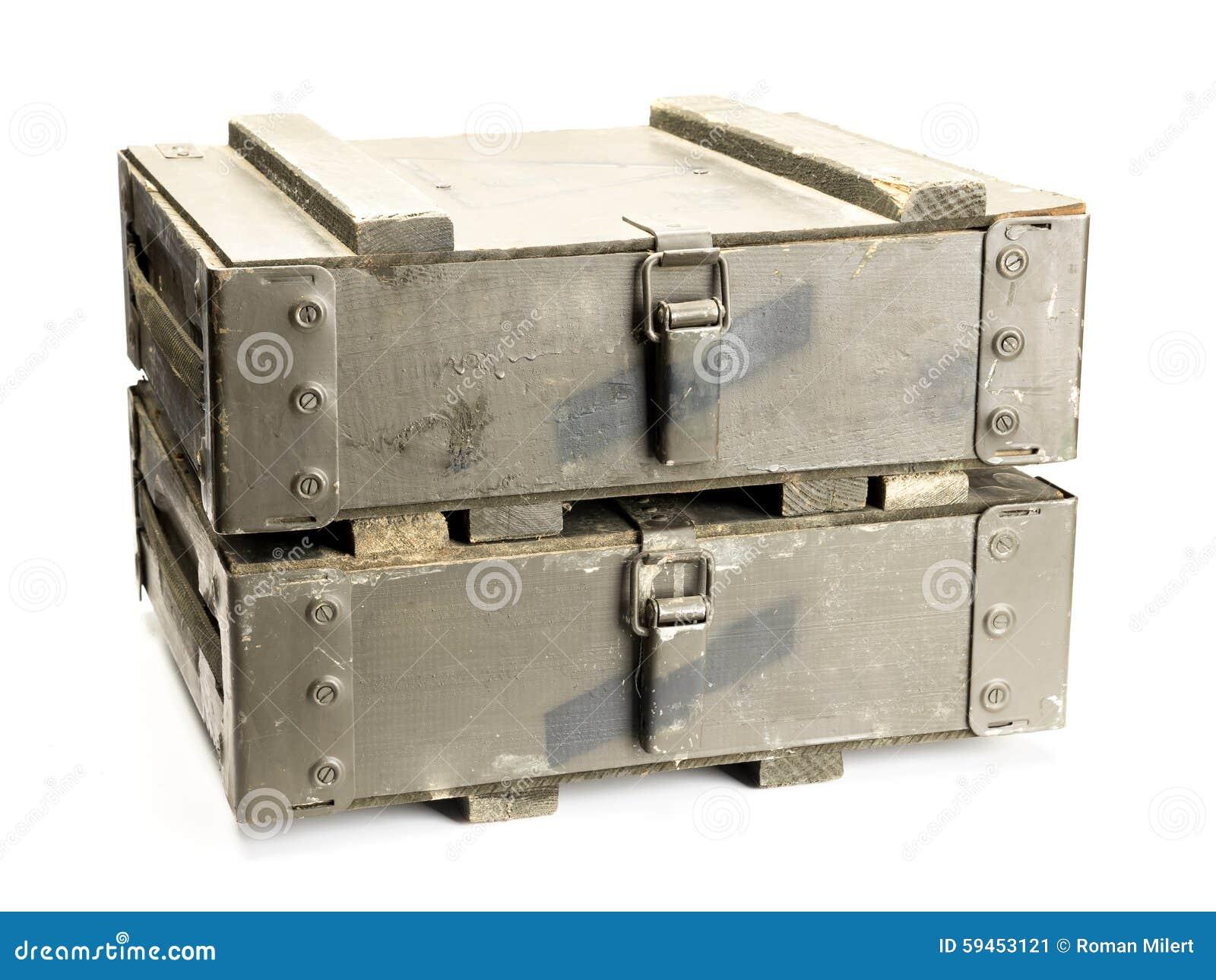 Cajas viejas de la munición