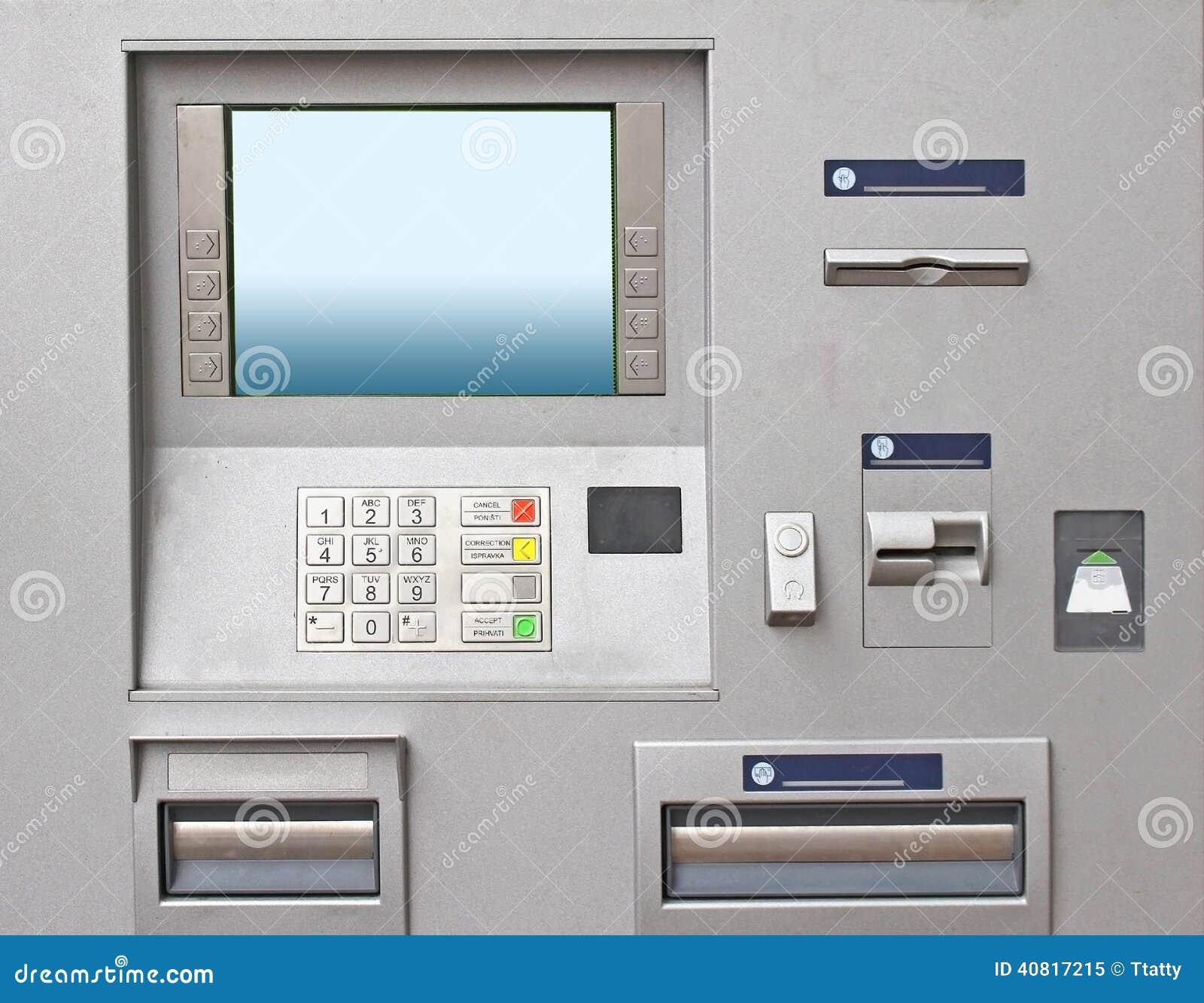 Cajero autom tico foto de archivo imagen 40817215 for Como cobrar en un cajero automatico