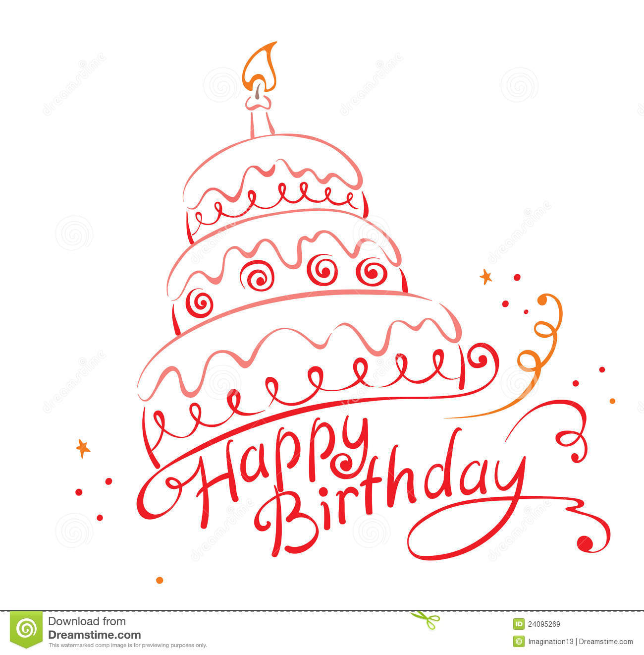 Royalty Free Birthday Images ~ Cake ans happy birthday stock vector illustration of
