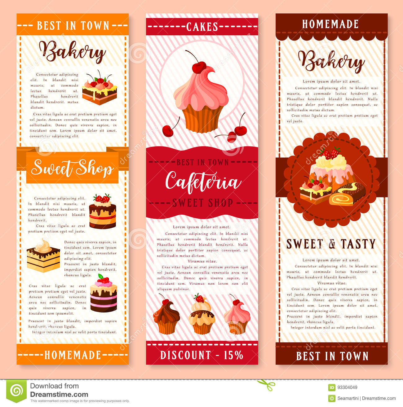 Roll Cake Bakery Menu