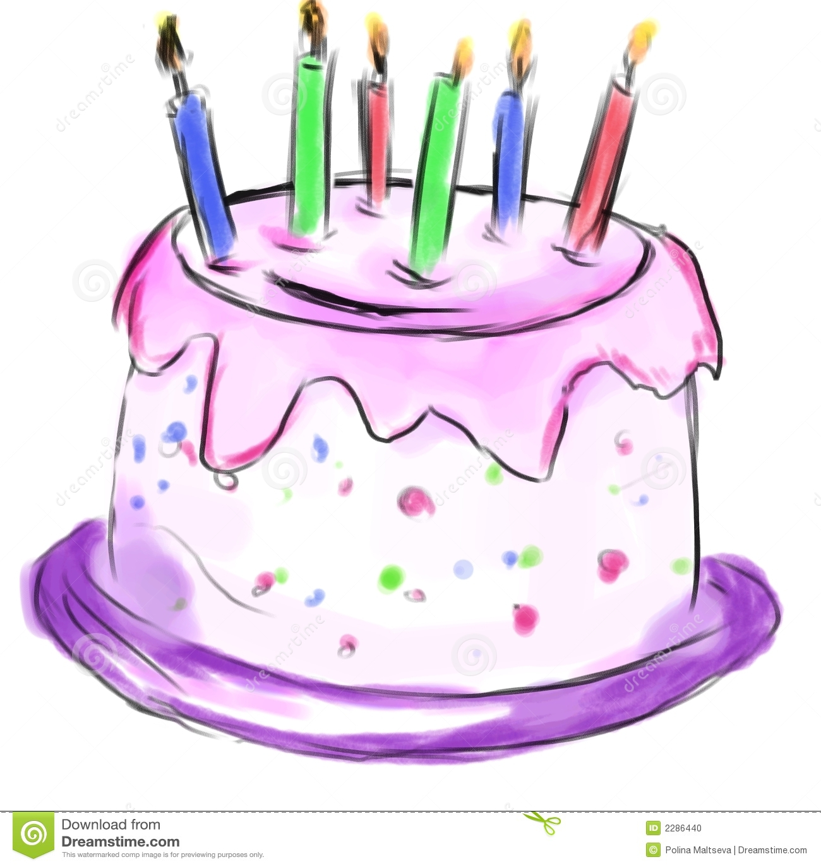 Cake For Birthday Stock Illustration Illustration Of