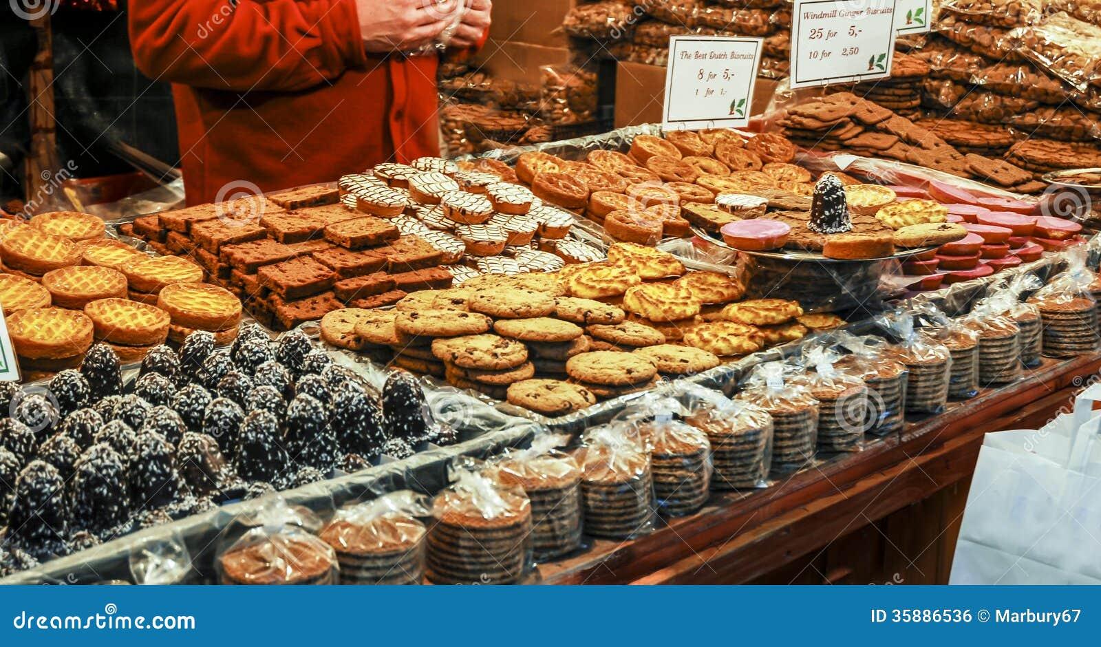 German Christmas Market Food Stalls