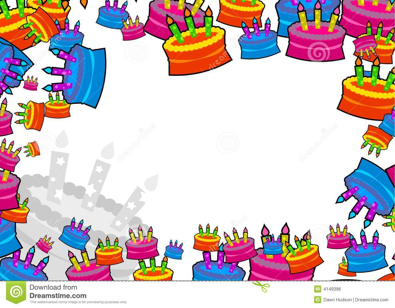 Cake border stock illustration. Illustration of clipart ...